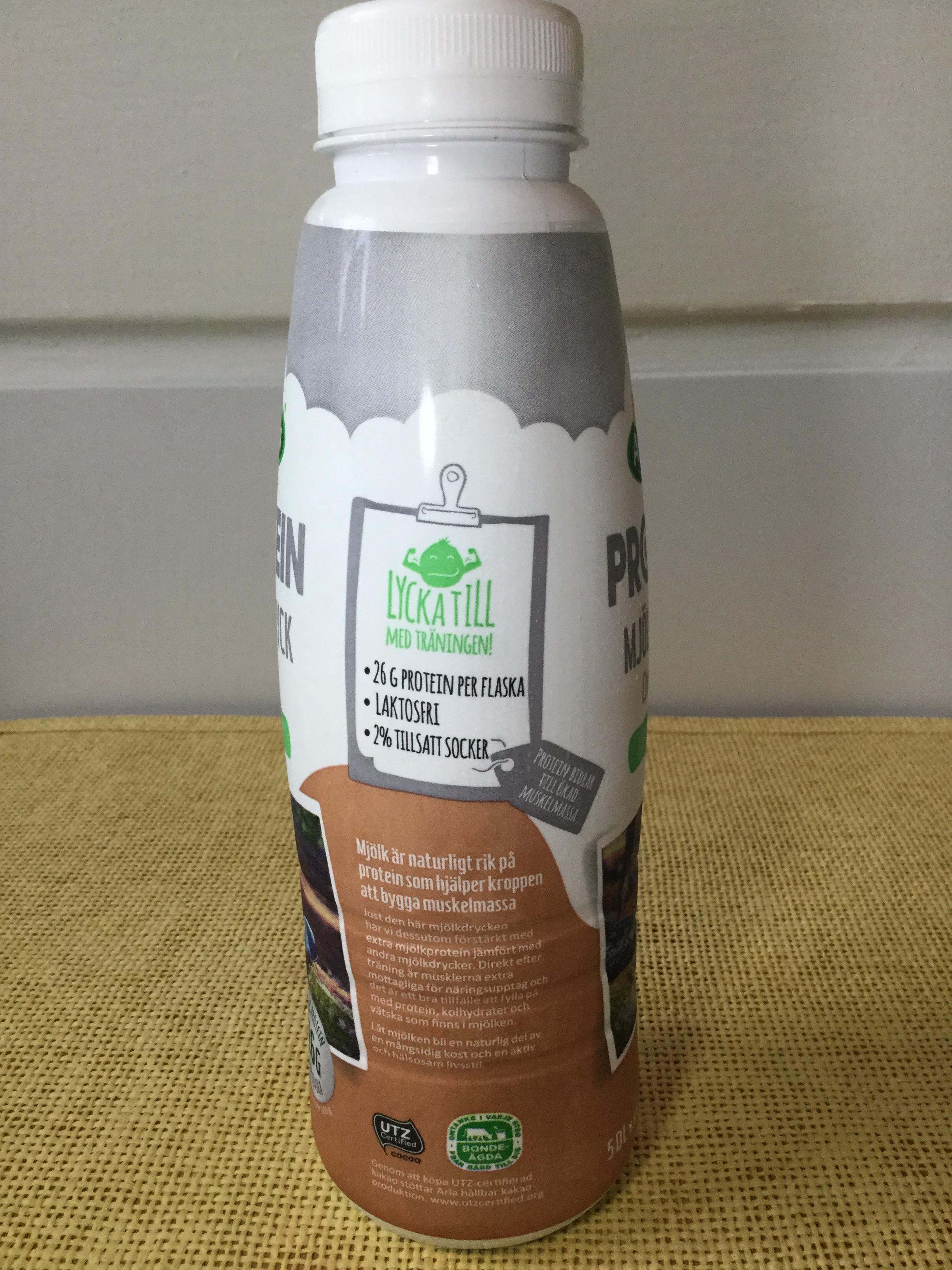 Arla Protein Choklad Mjölkdryck Lactose Free Side 2