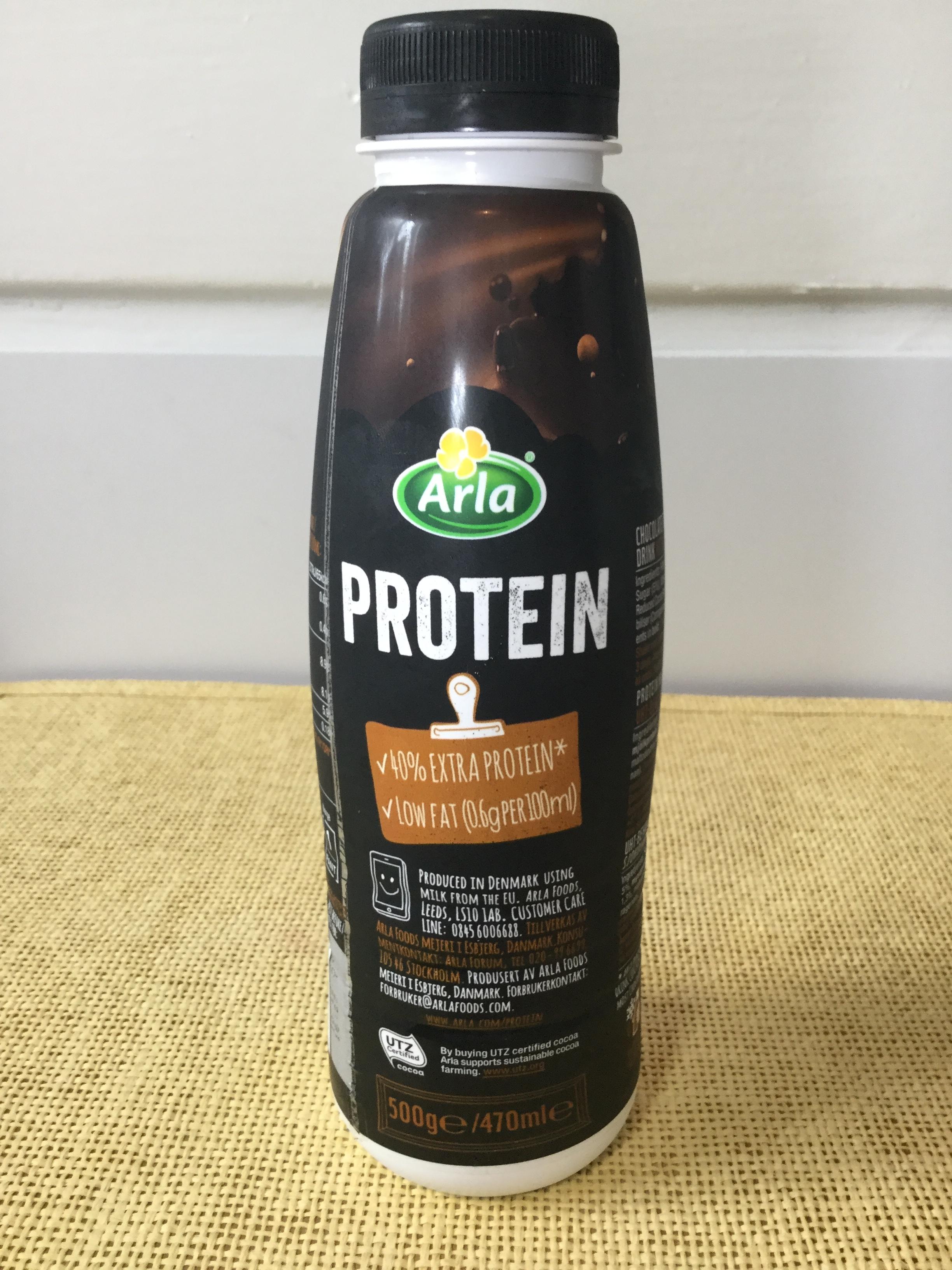 Arla Protein Chocolate Flavoured Milk Drink Side 2