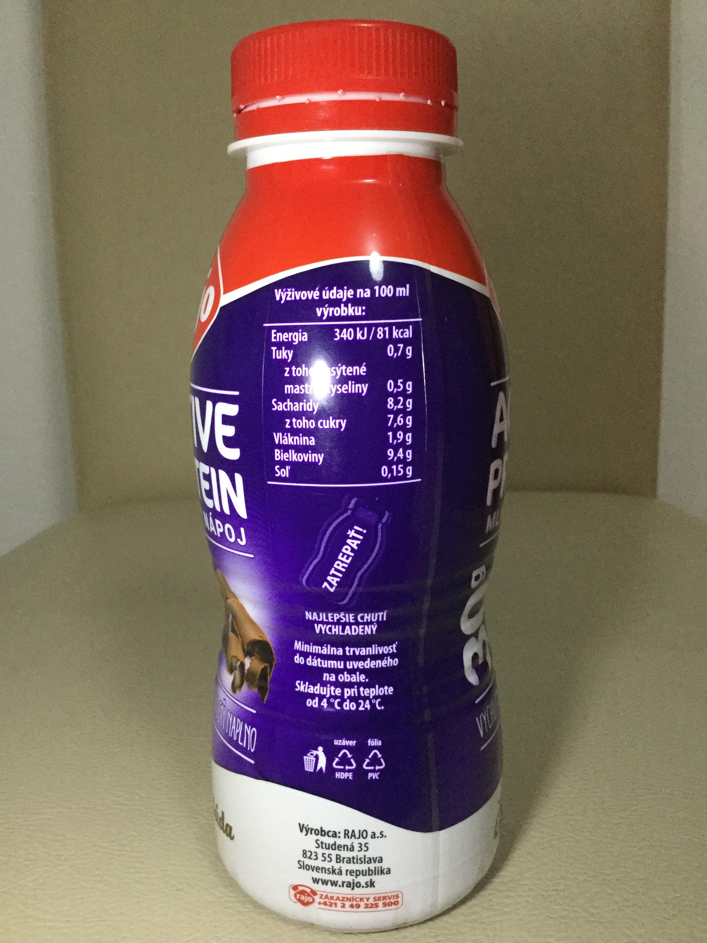 Rajo Active Protein Dairy Drink Cokolada Side 1