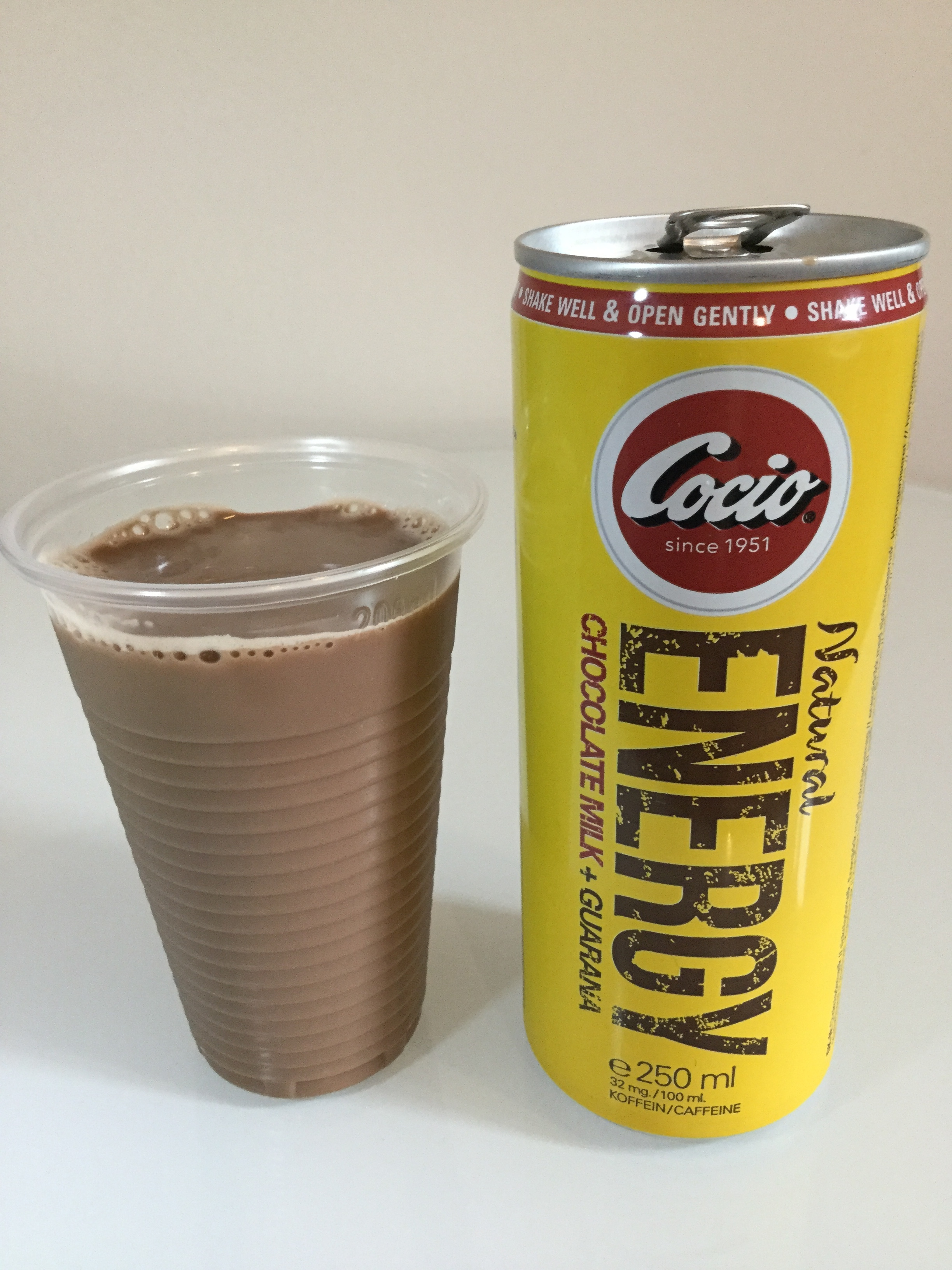 Cocio Natural Energy Chocolate Milk + Guarana Cup