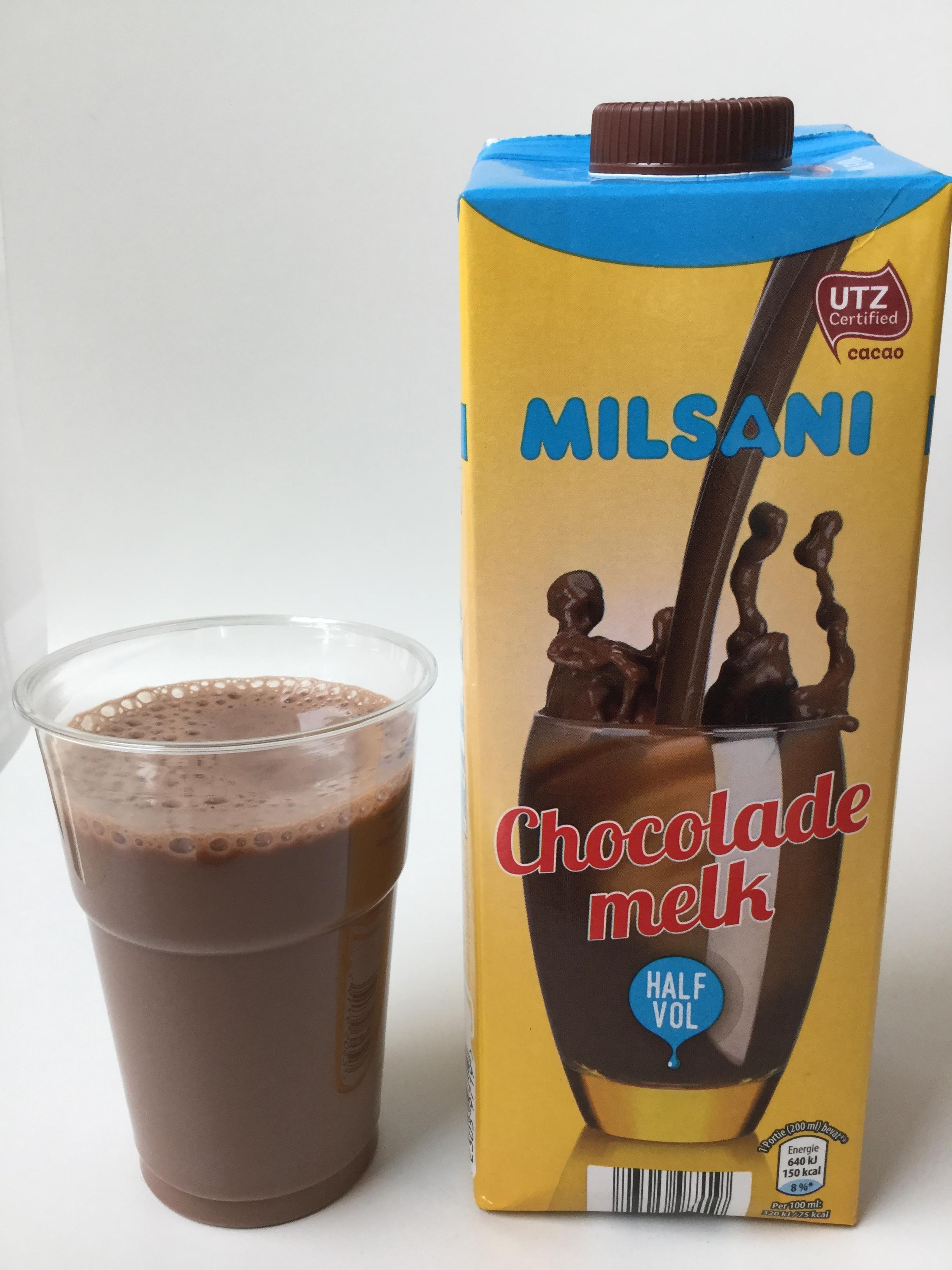Milsani Chocolade Melk Half Vol Cup