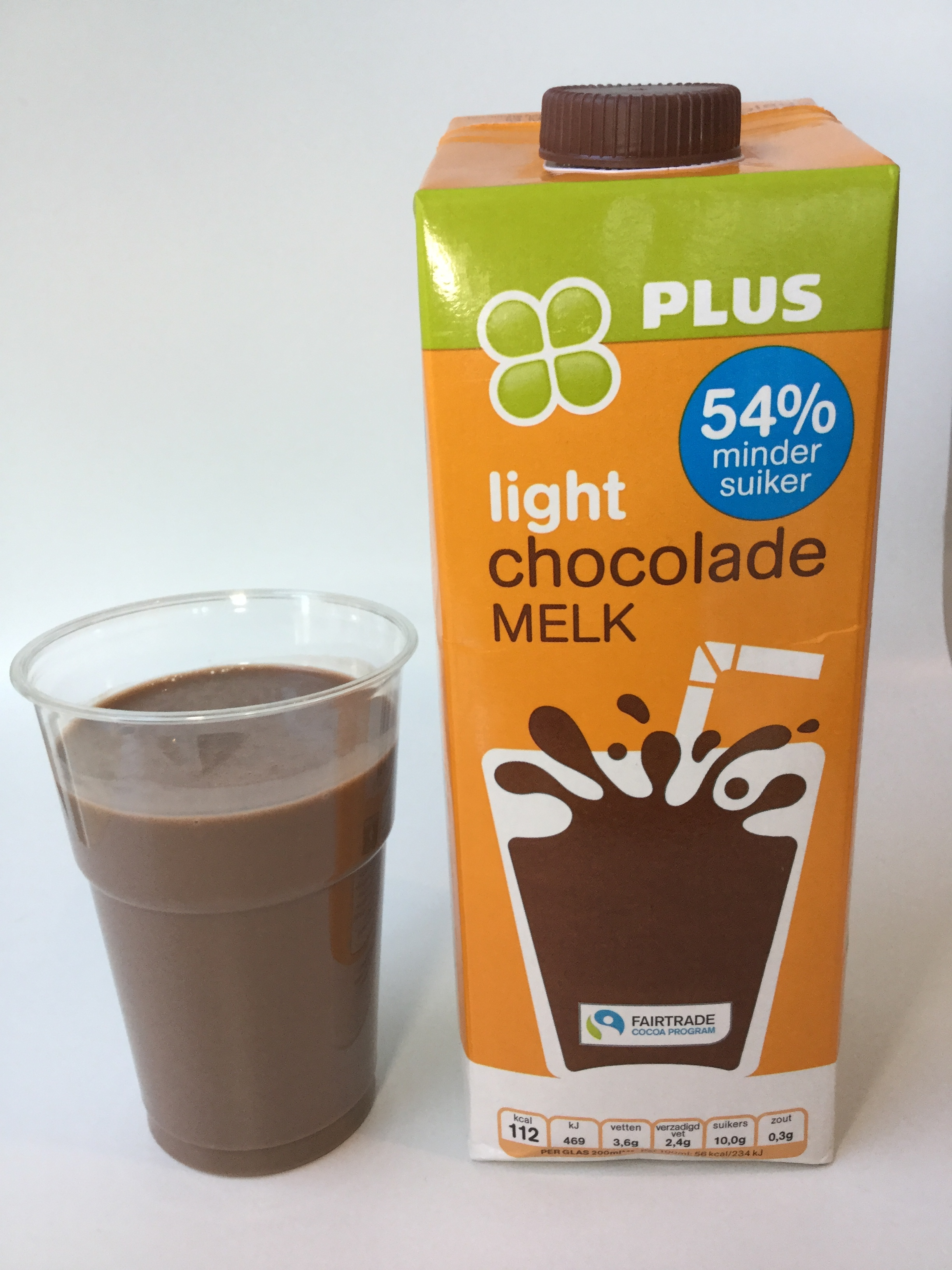 Plus Light Chocolade Melk Cup