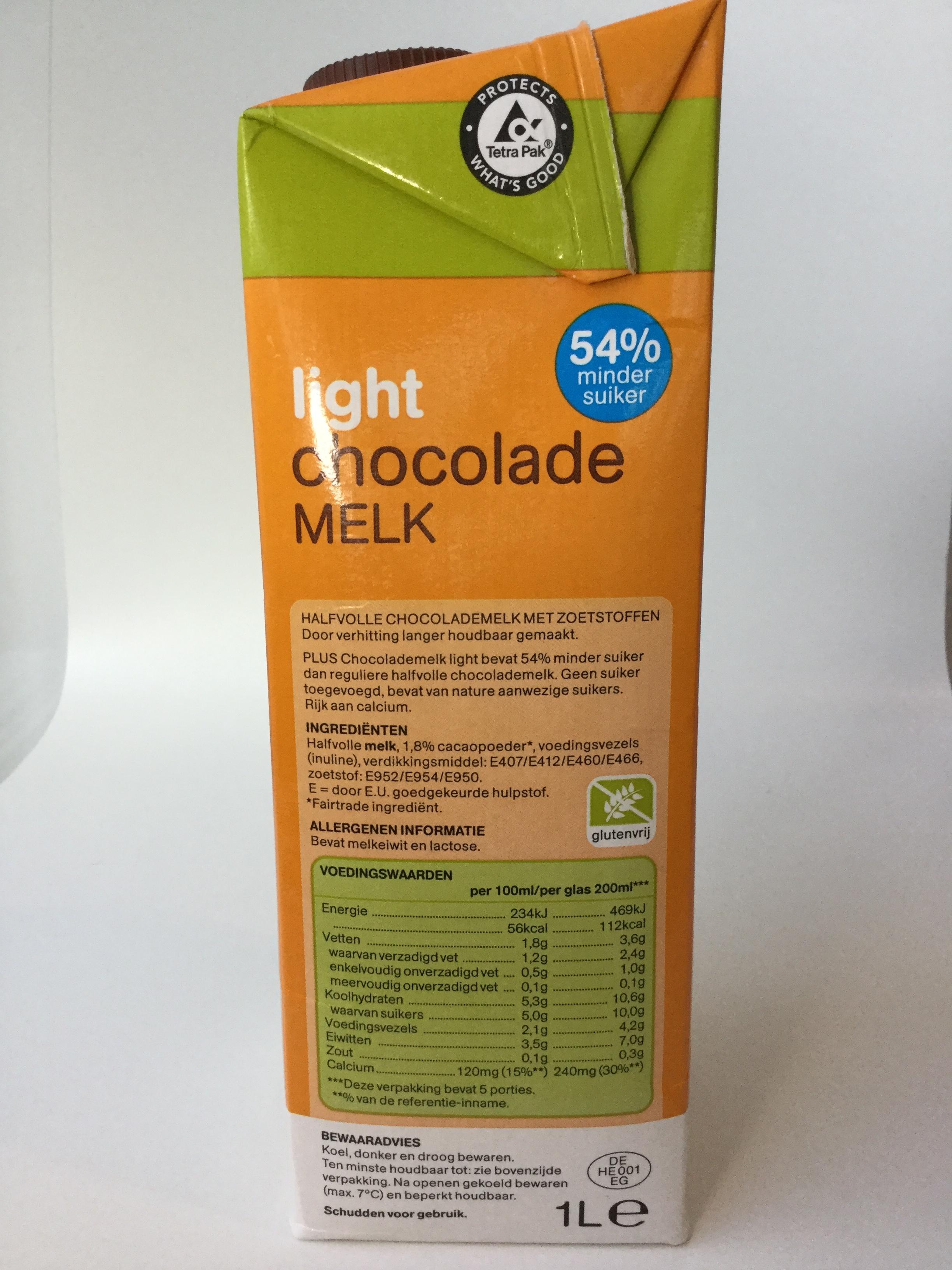 Plus Light Chocolade Melk Side 1