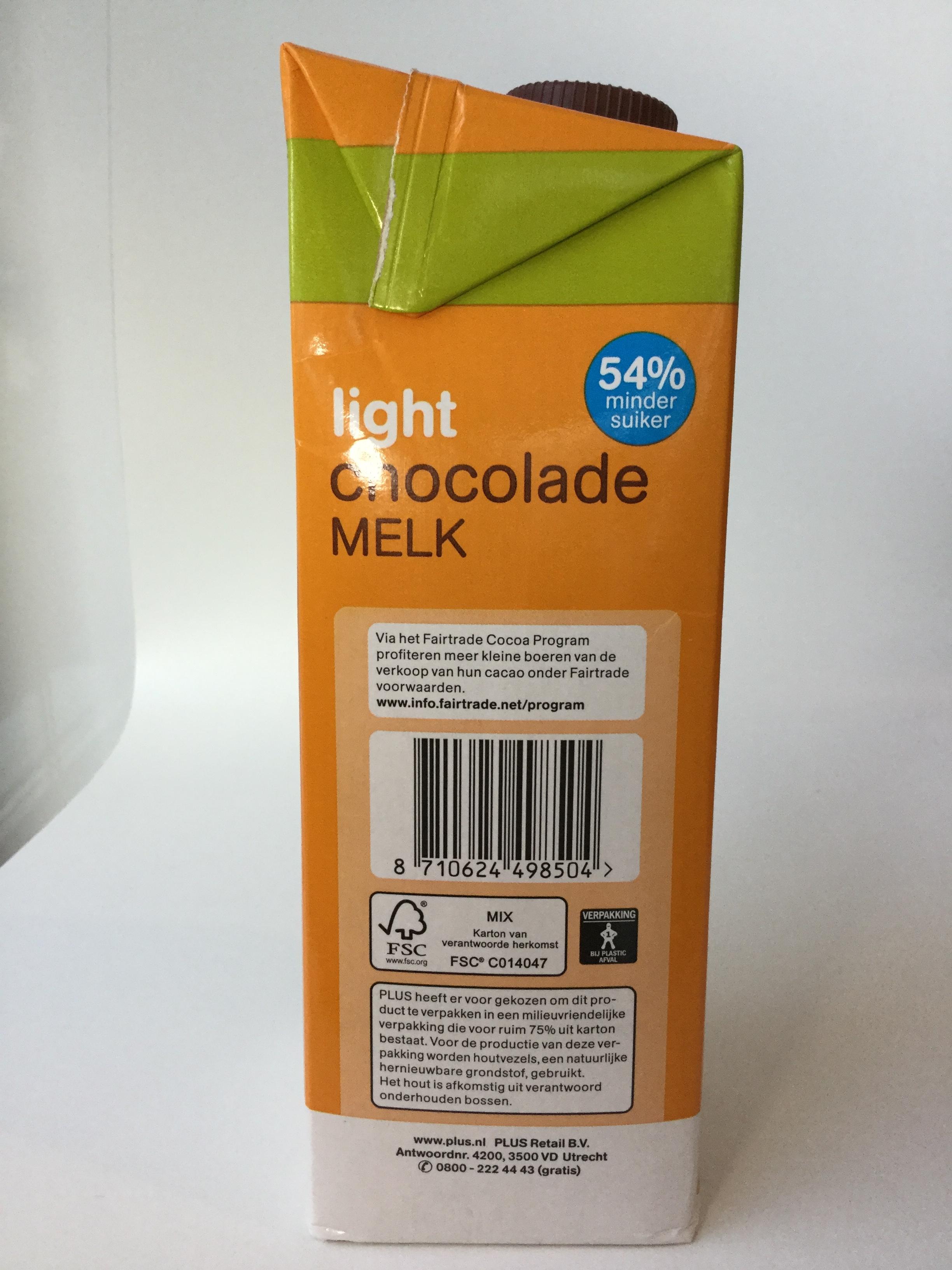 Plus Light Chocolade Melk Side 2