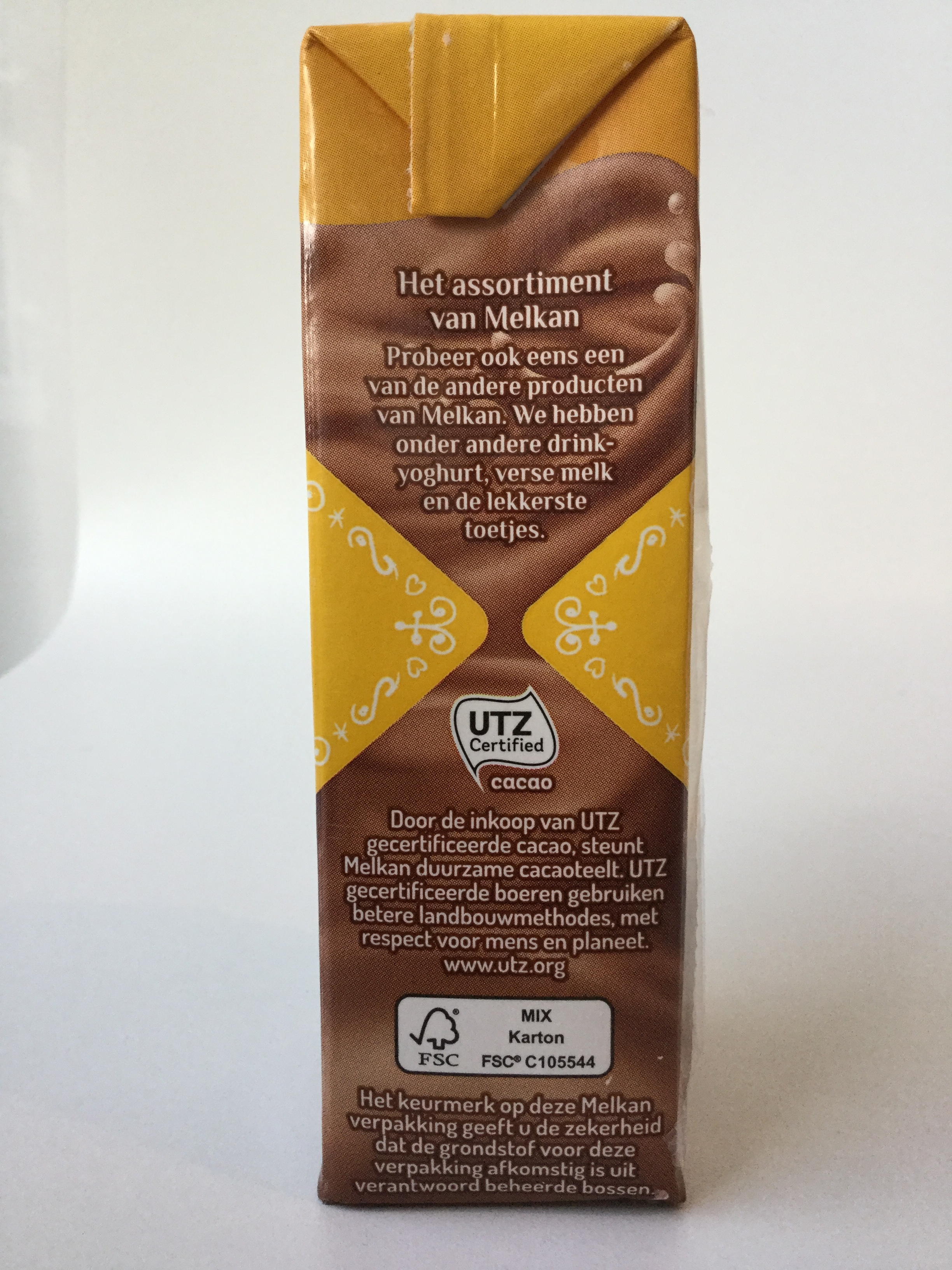 Melkan Light Chocolade Melk Side 2