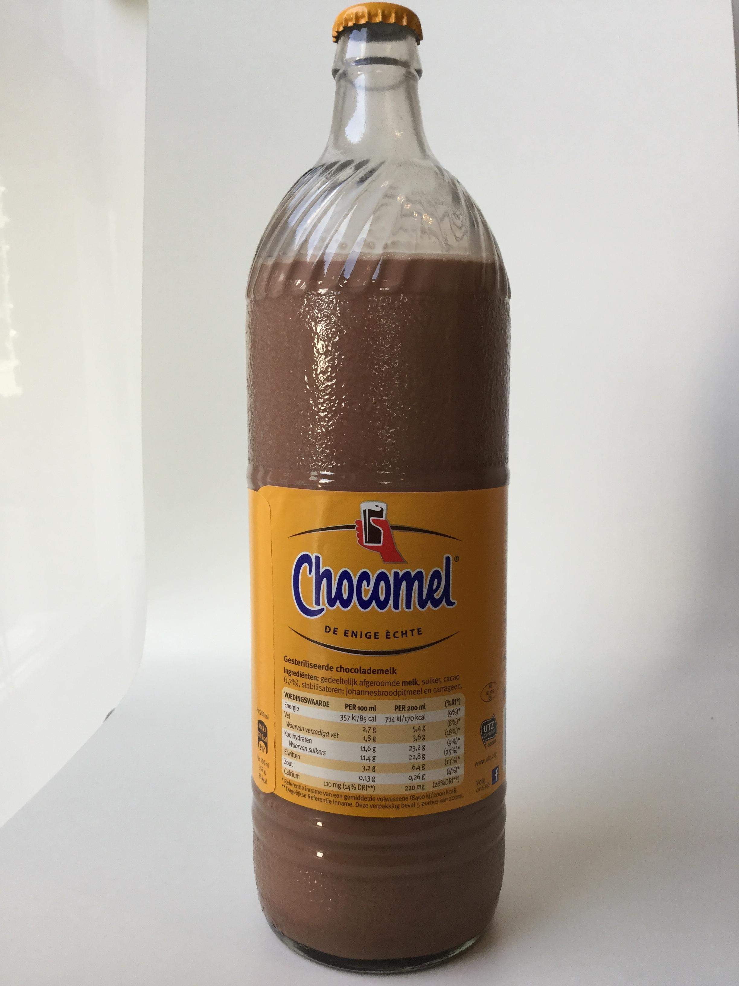 Chocomel (1L glass) Side 1