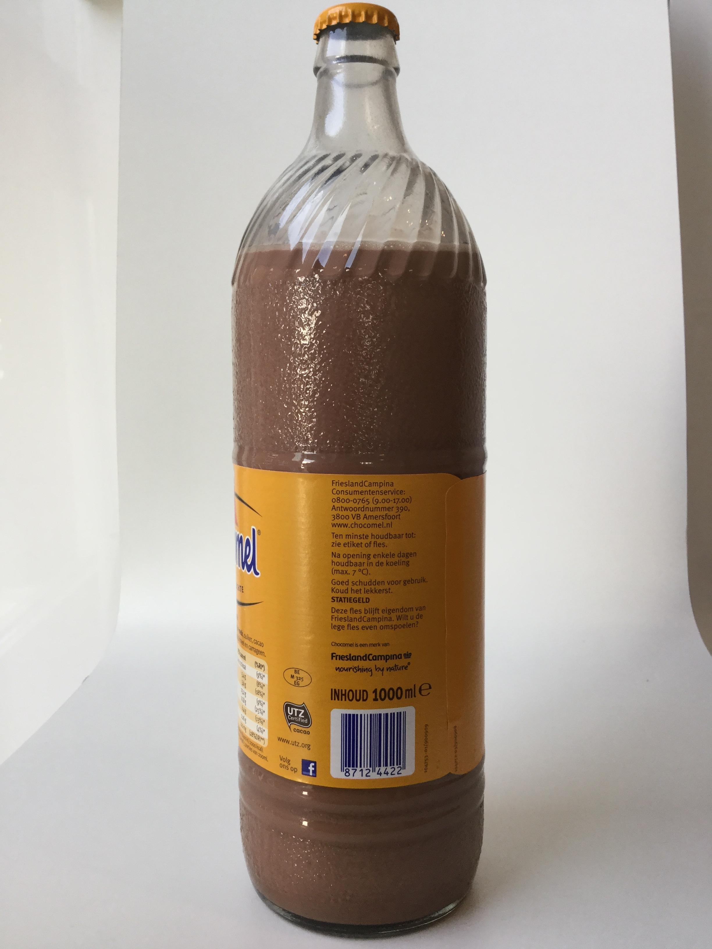 Chocomel (1L glass) Side 2