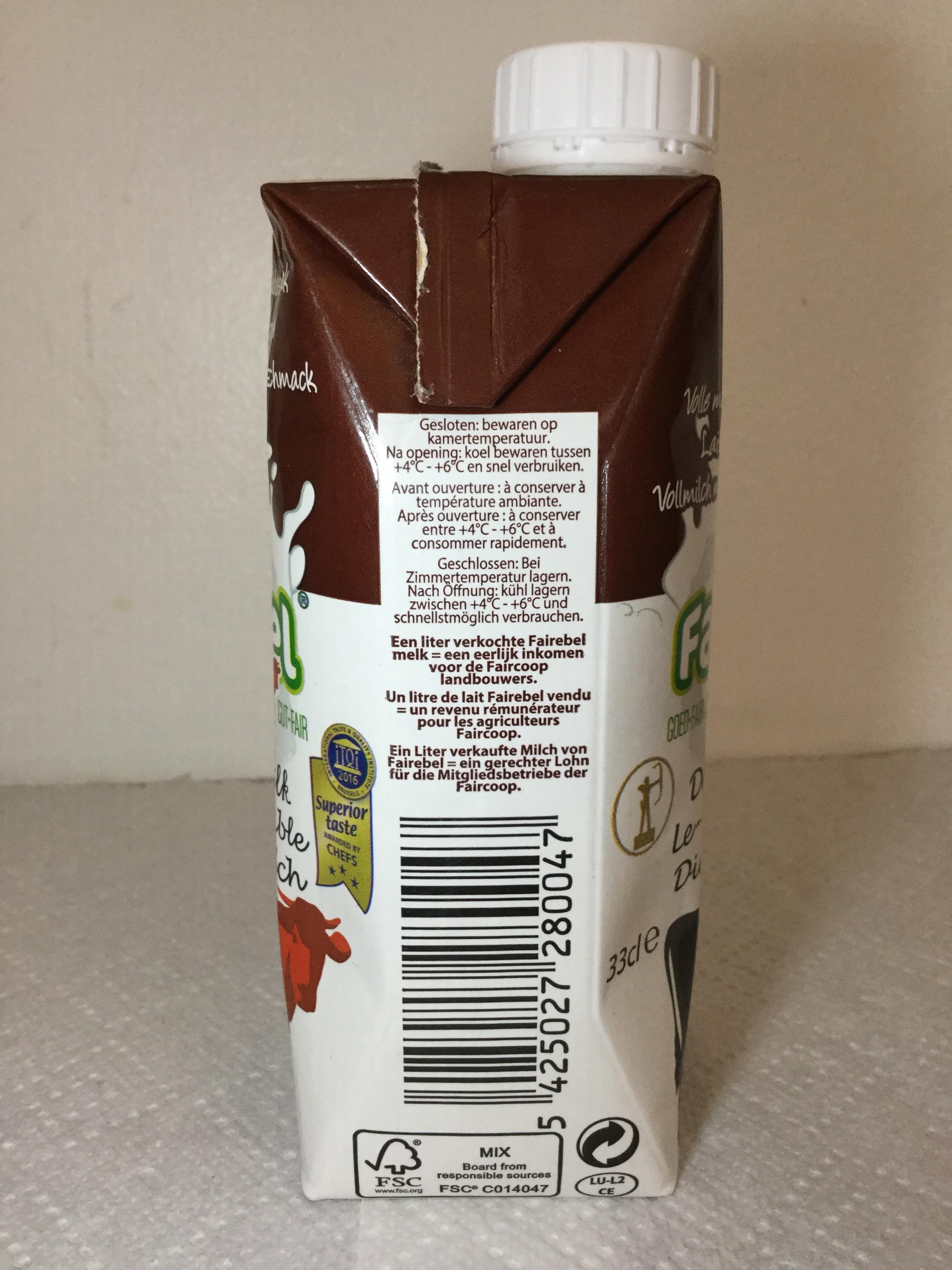 Fairebel Volle Melk Met Chocoladesmaak Side 2