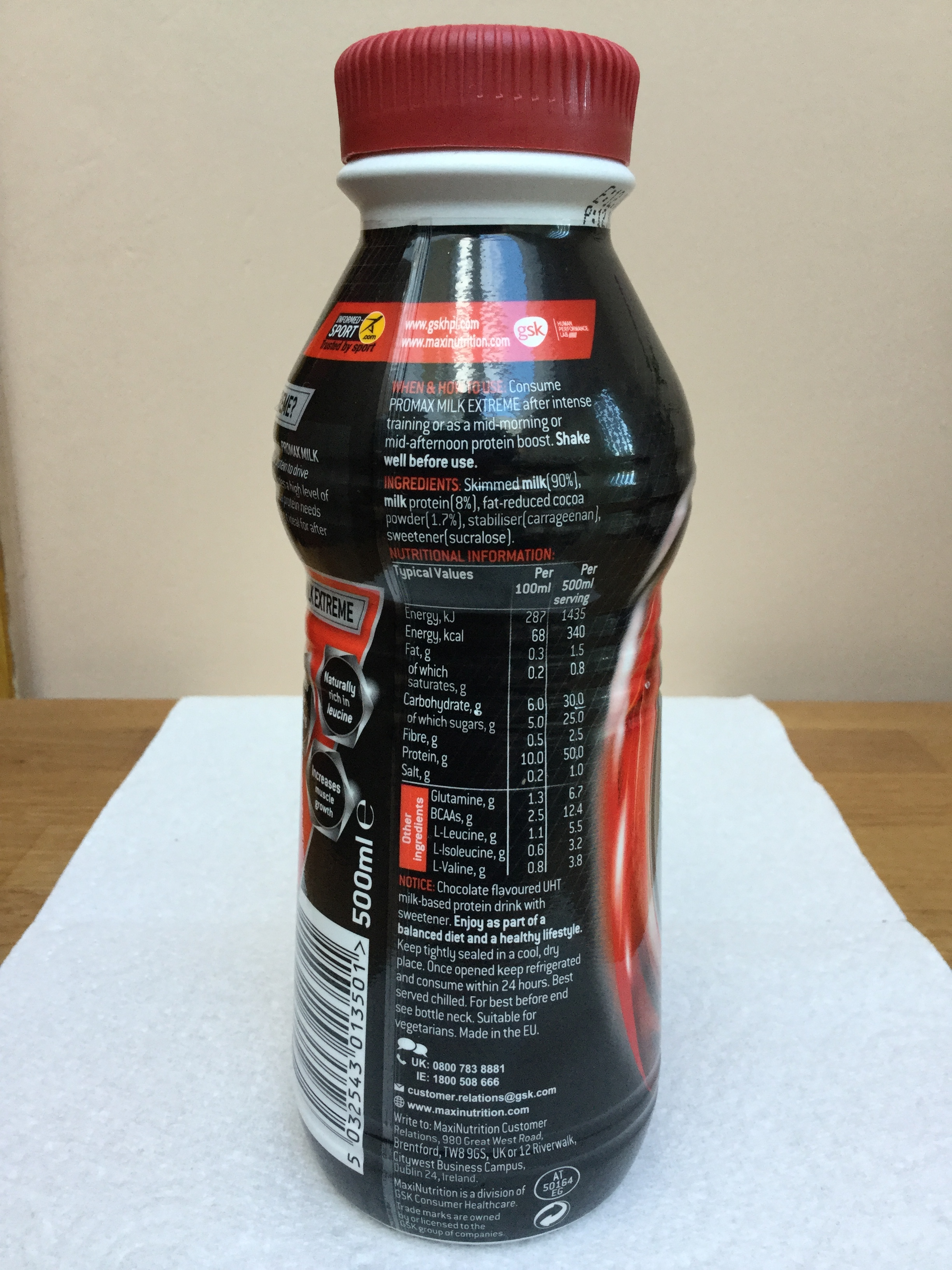 Maxi Nutrition Promax Milk Extreme Chocolate Side 1