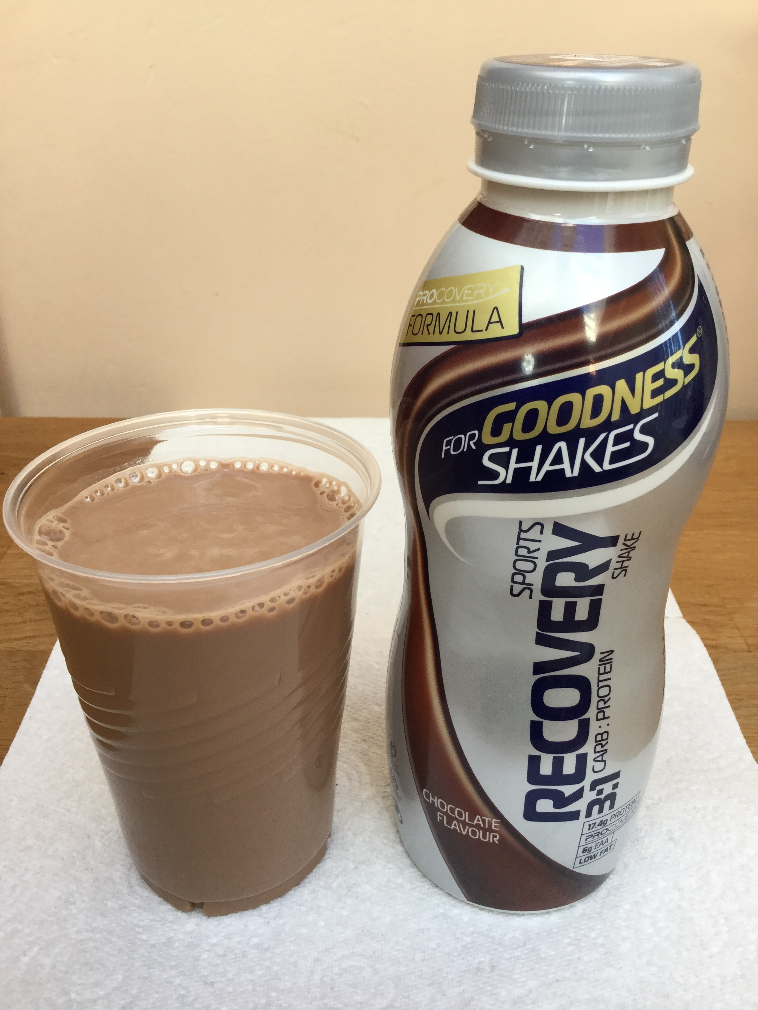 For Goodness Shakes Sports Recovery Chocolate Cup
