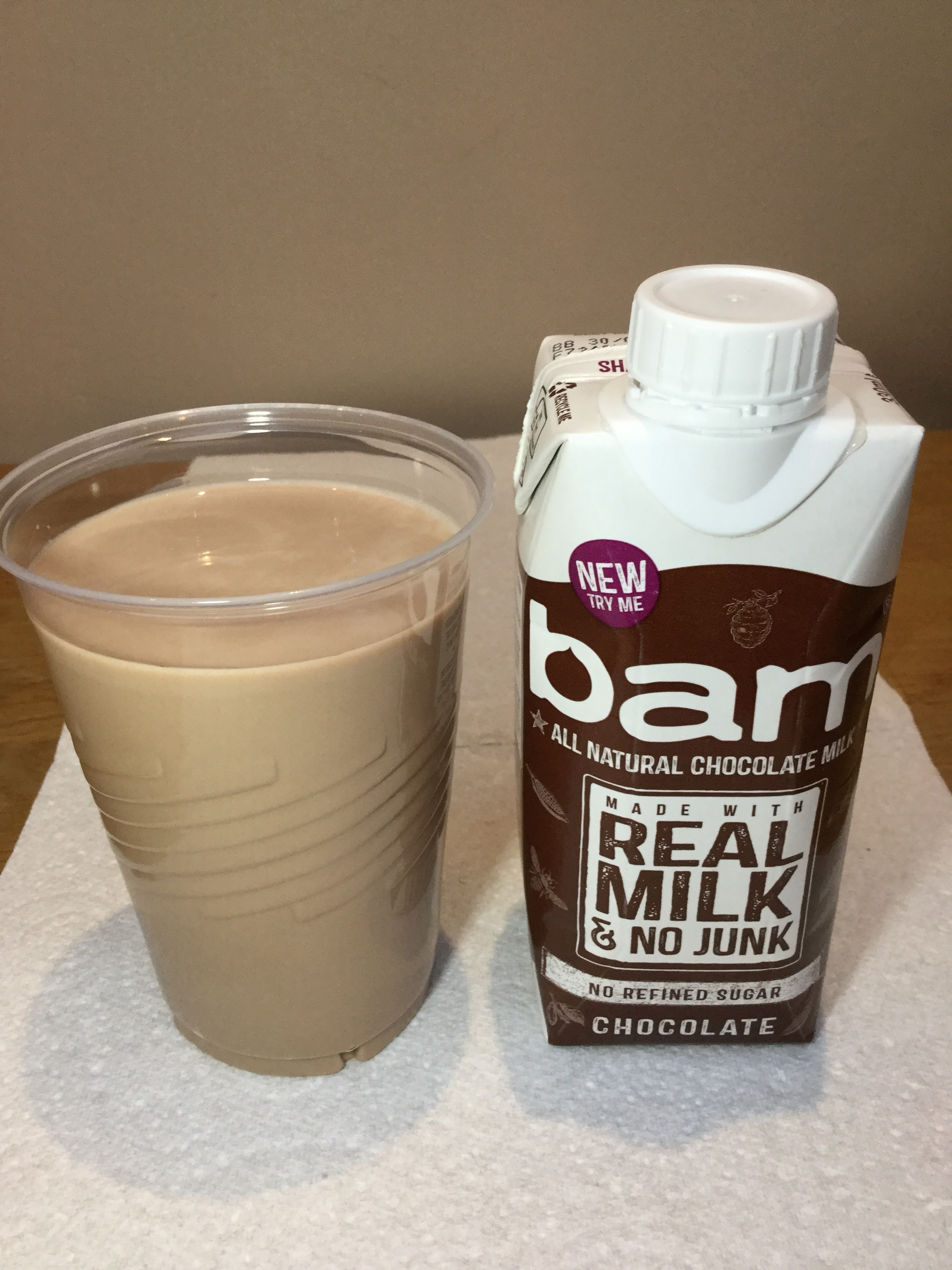 Bam All Natural Chocolate Milk Cup