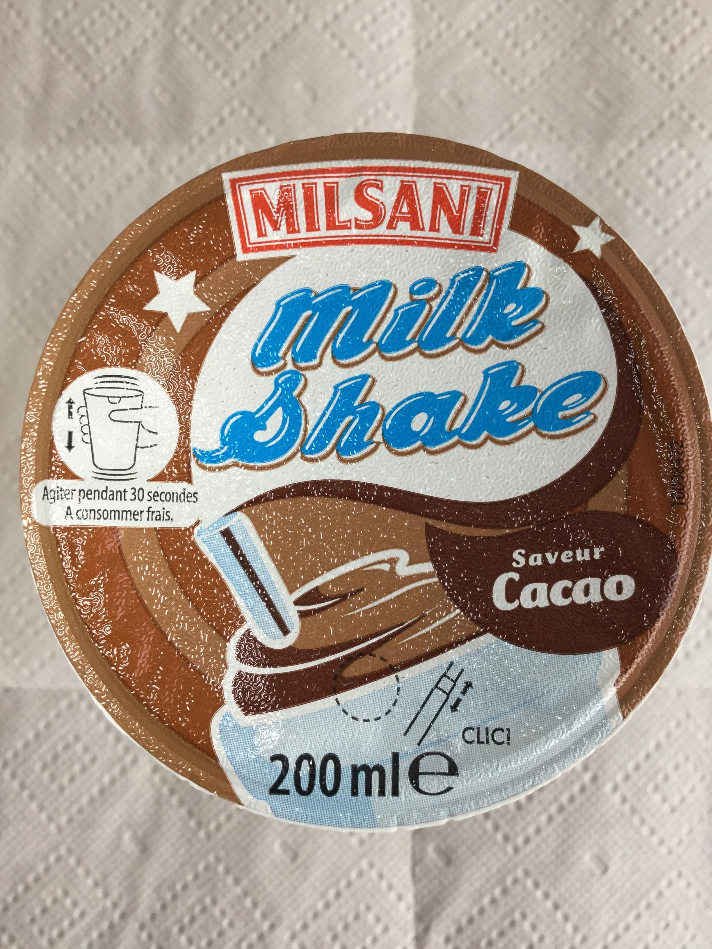 Milsani Milk Shake Saveur Cacao Side 3