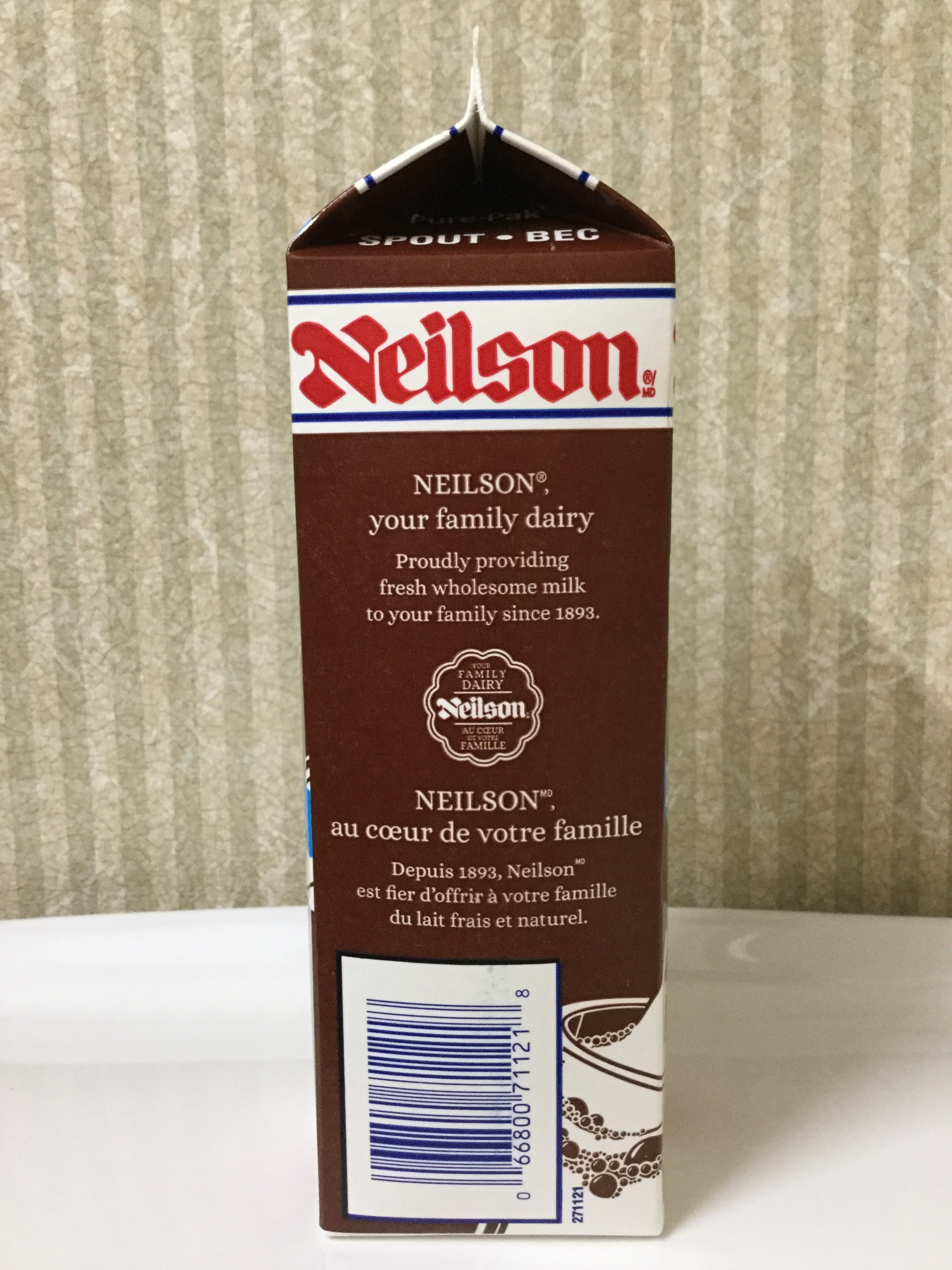 Neilson Chocolate Milk 25% Less Sugar Side 2