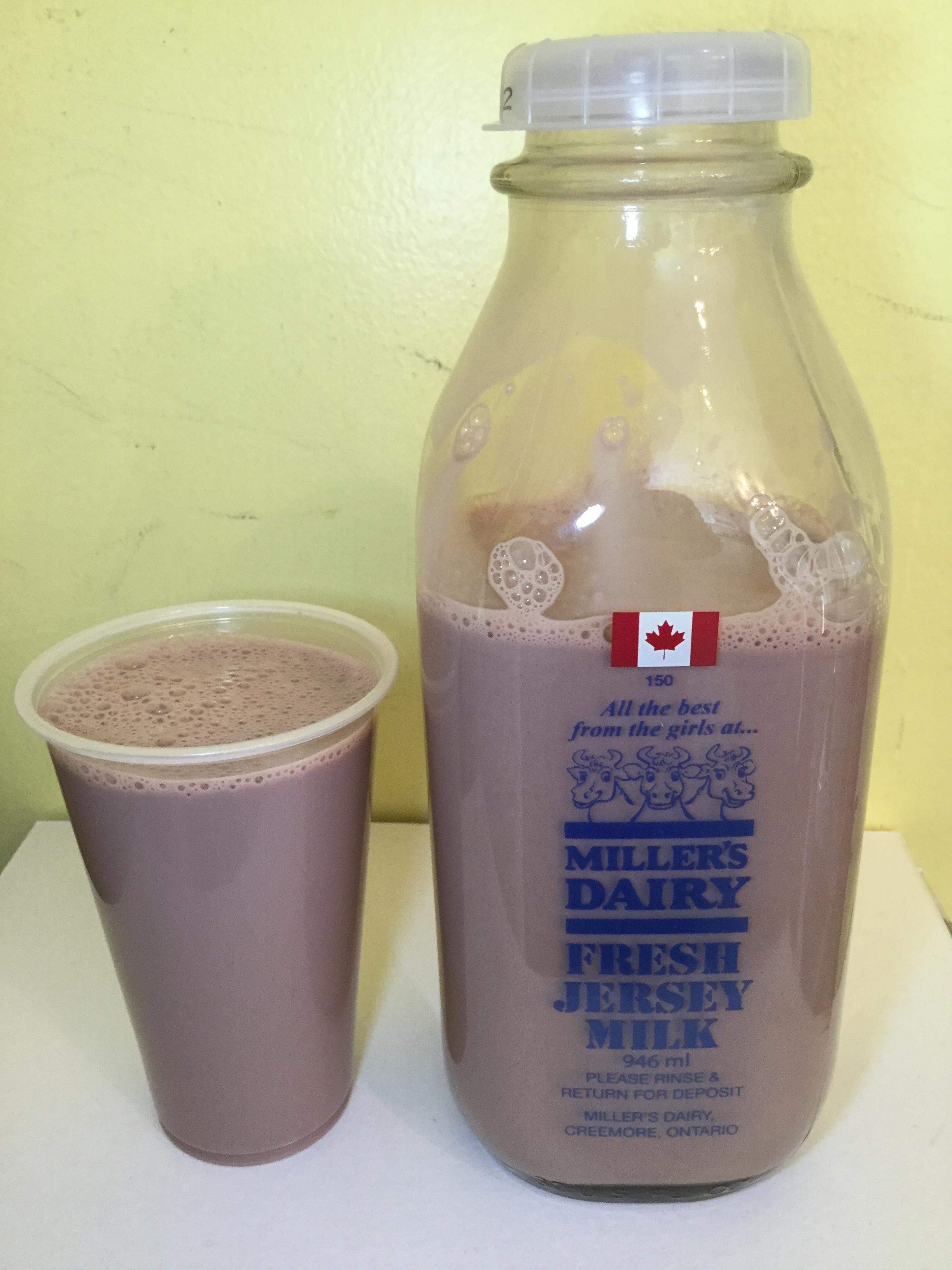 Miller's Dairy Chocolate Milk Cup
