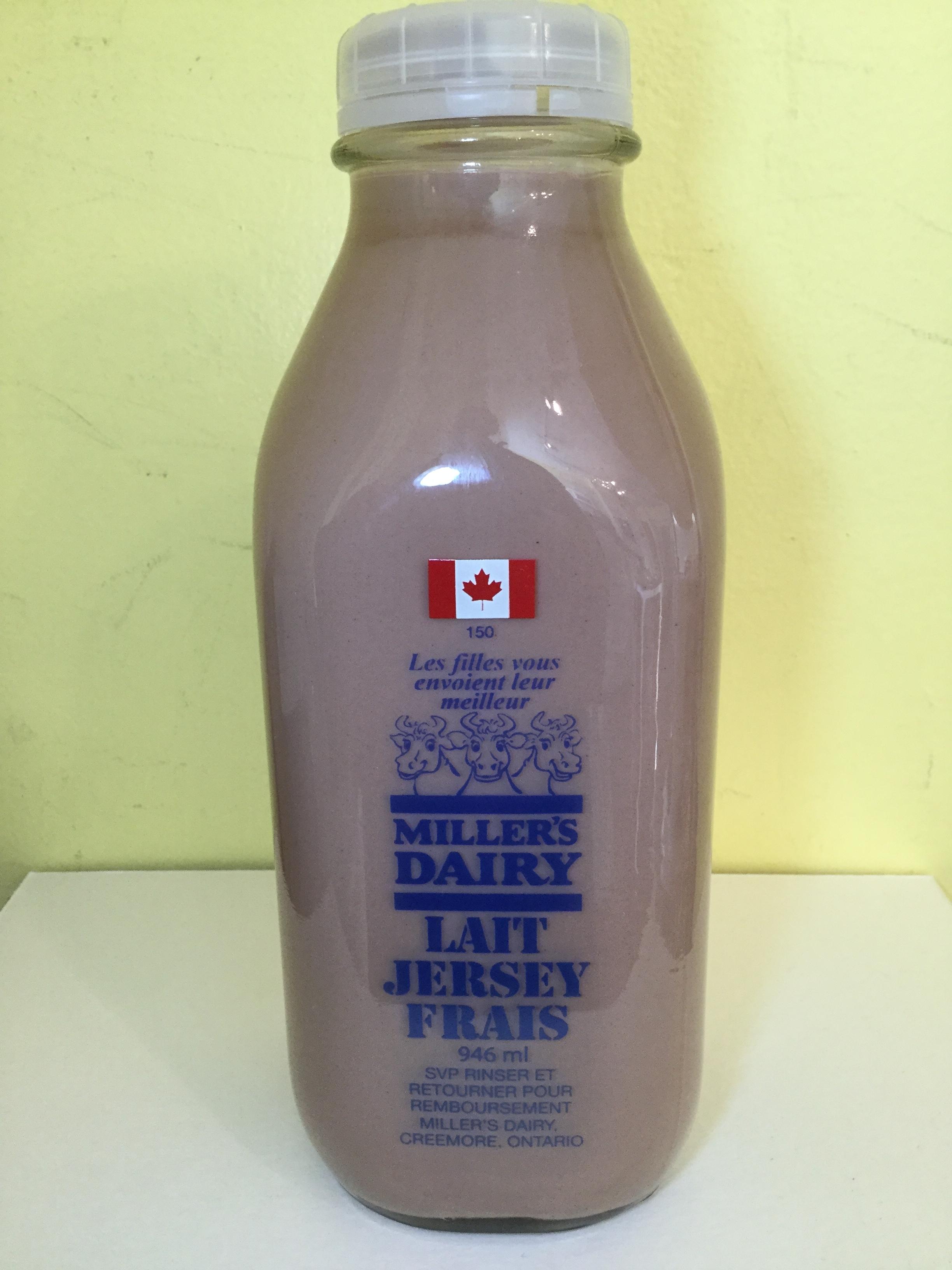 Miller's Dairy Chocolate Milk Side 1