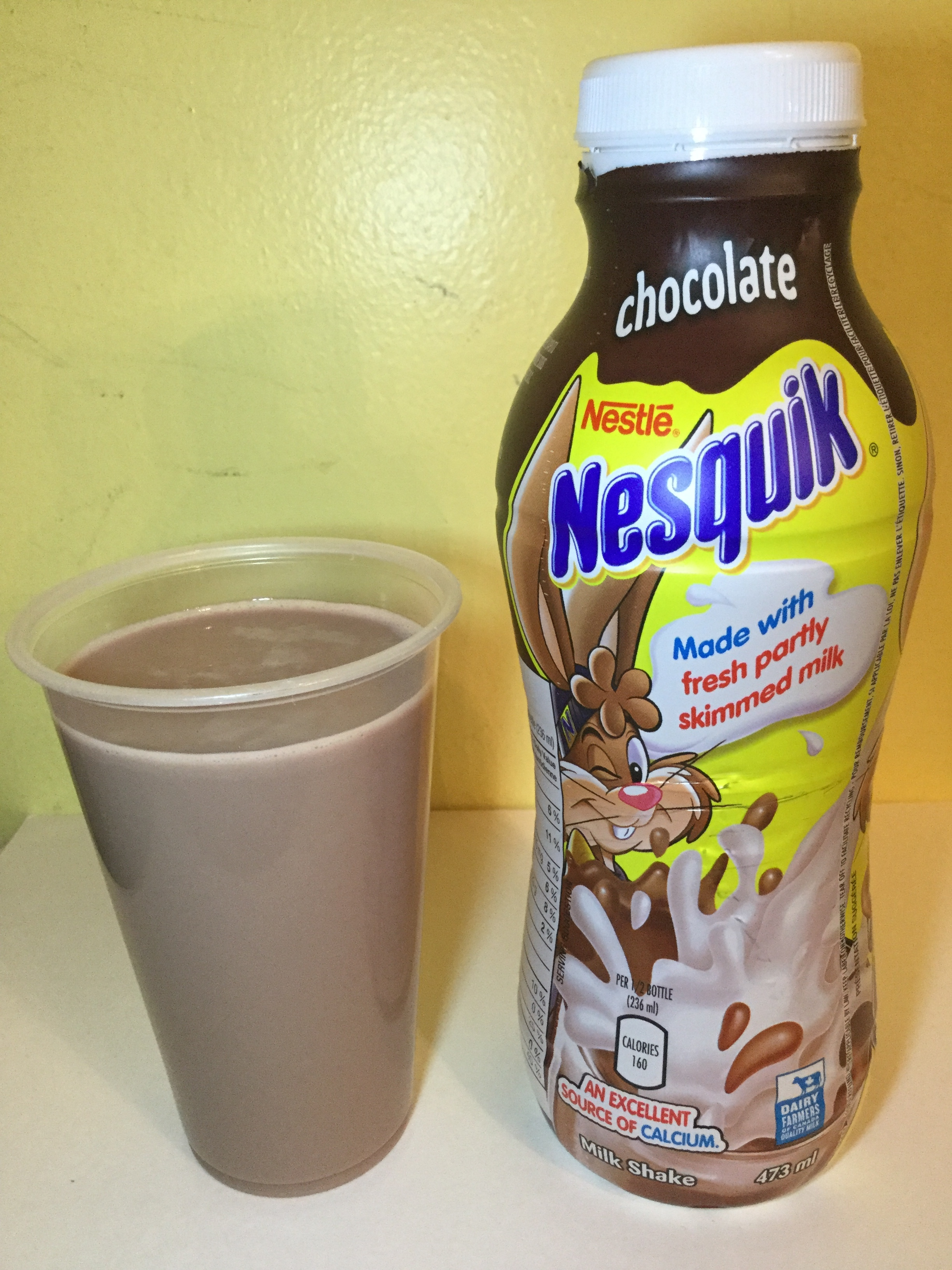 Nestle Nesquik Chocolate Milk Cup