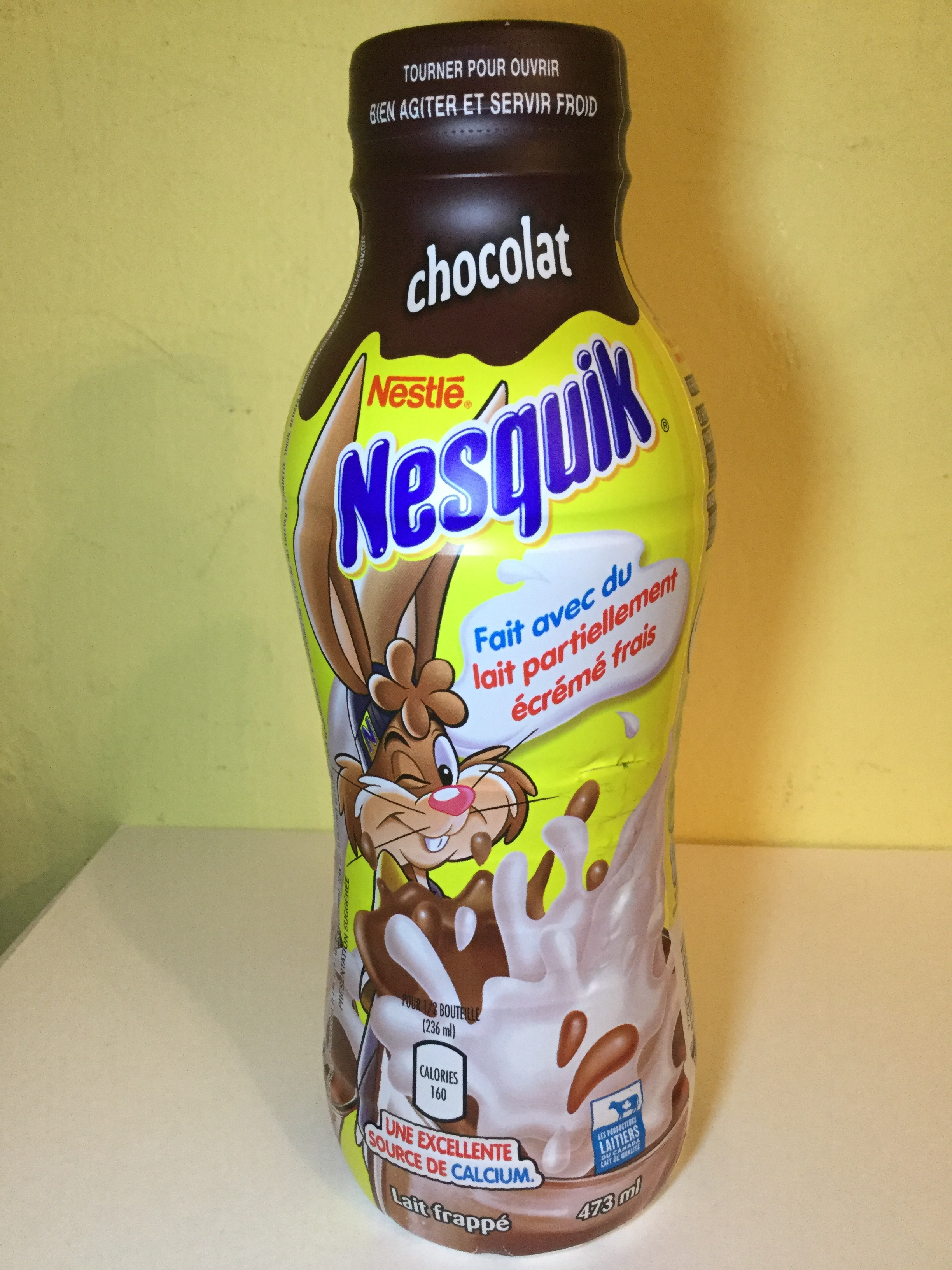 Nestle Nesquik Chocolate Milk Side 3