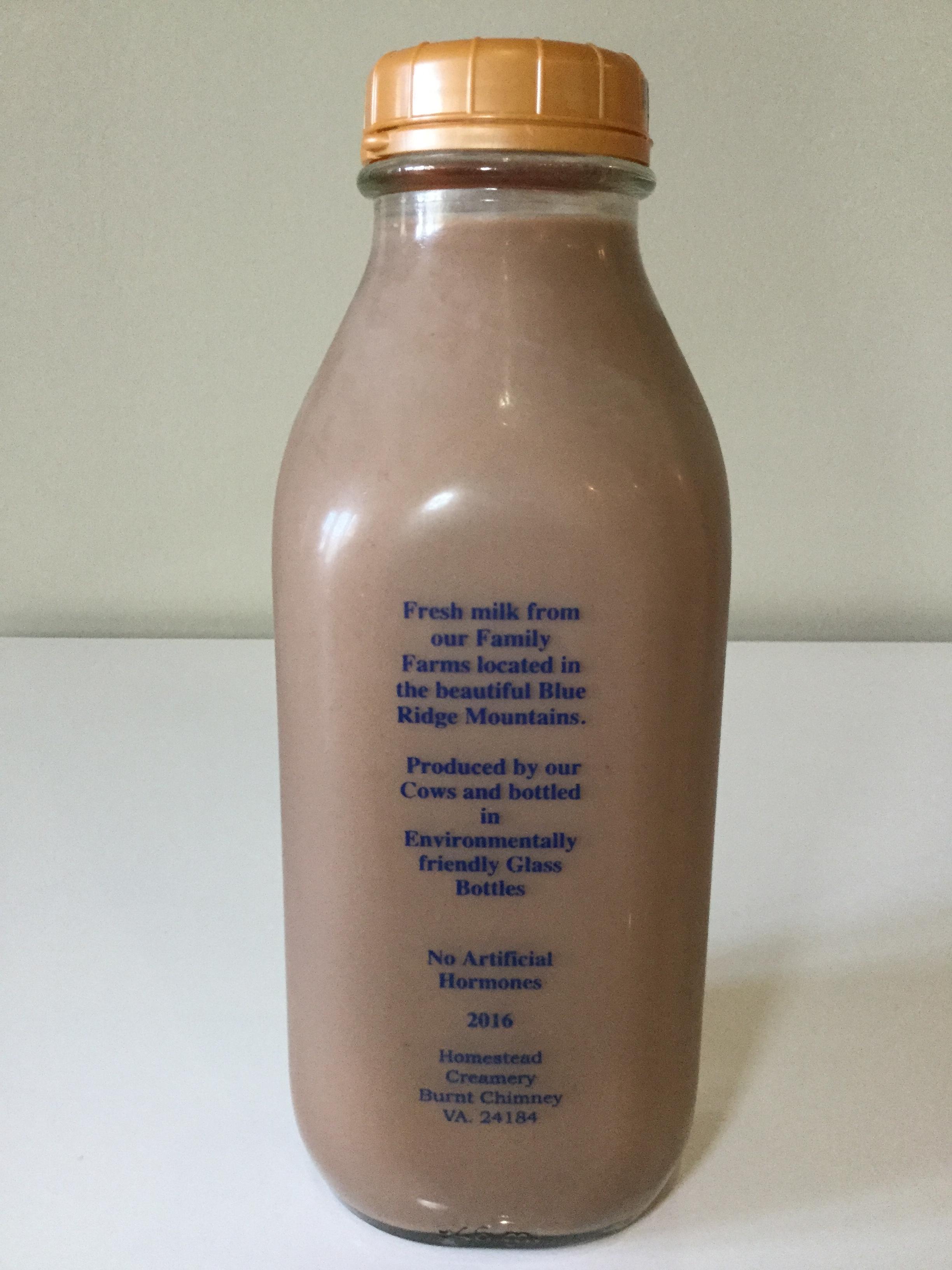 Homestead Creamery Chocolate Milk Side 1