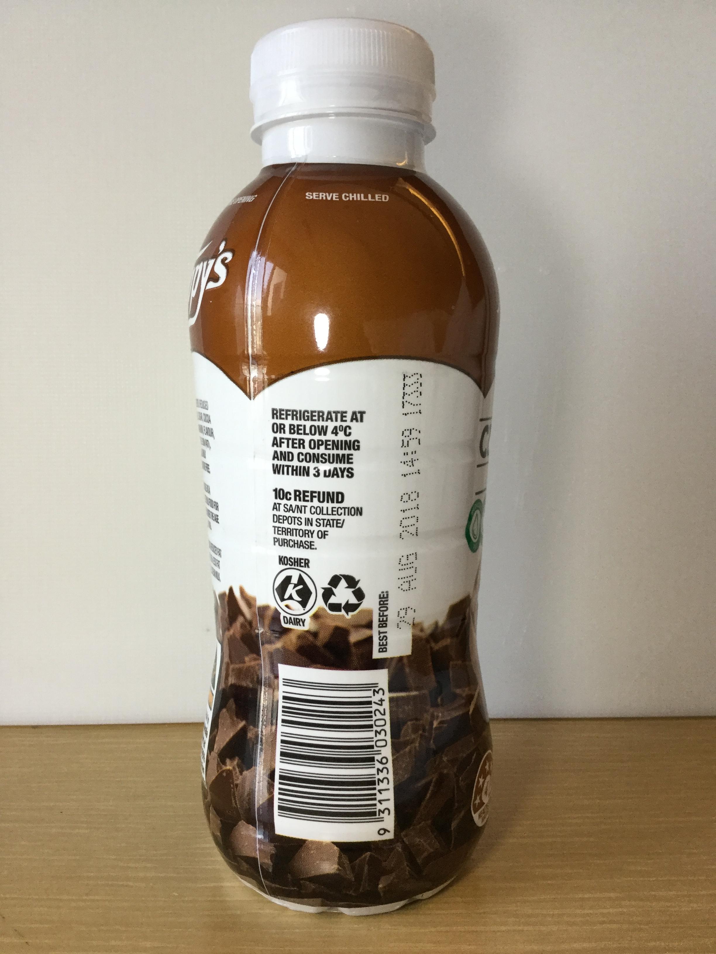 Nippy's Iced Chocolate Milk (UHT plastic) Side 2