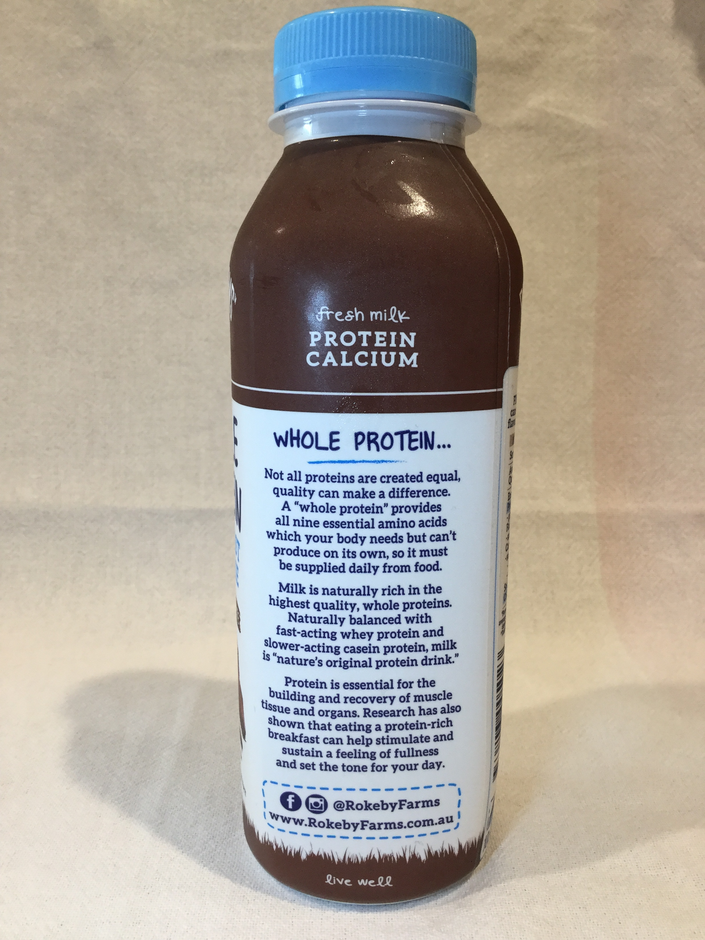 Rokeby Farms Whole Protein Dutch Chocolate Breakfast Smoothie Side 2