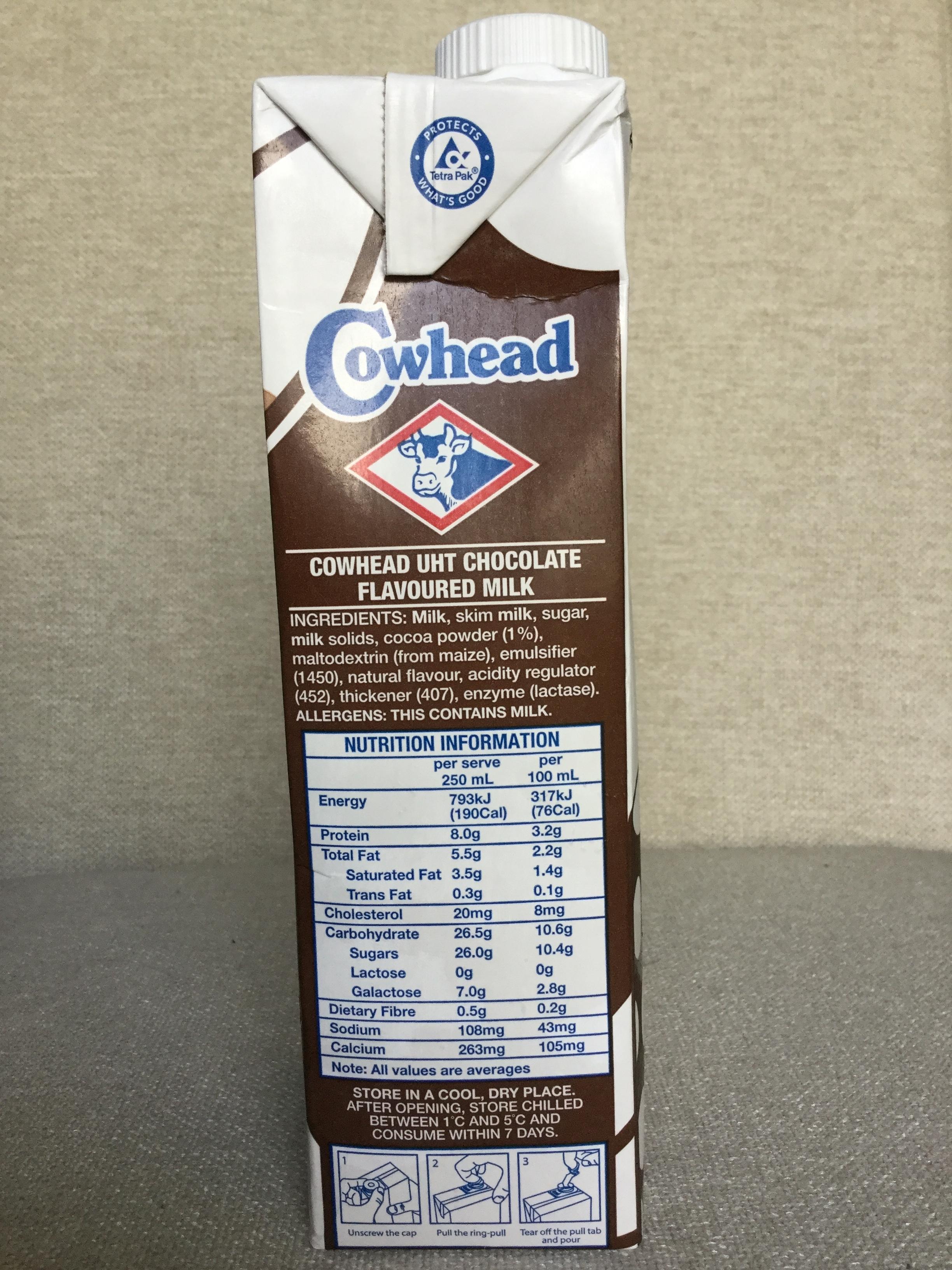 Cowhead Premium Chocolate Milk Side 1