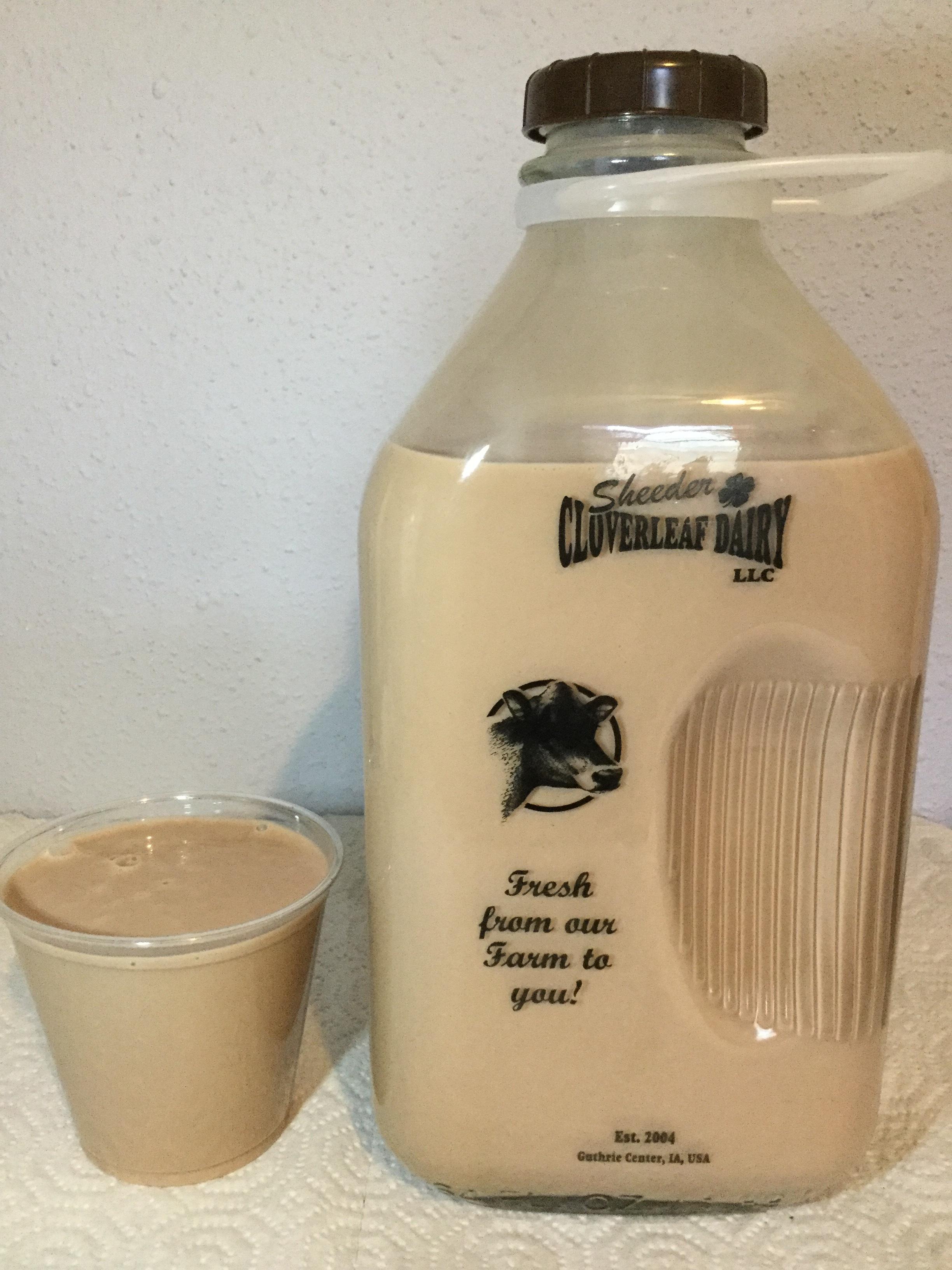 Sheeder Cloverleaf Dairy Chocolate Milk Cup