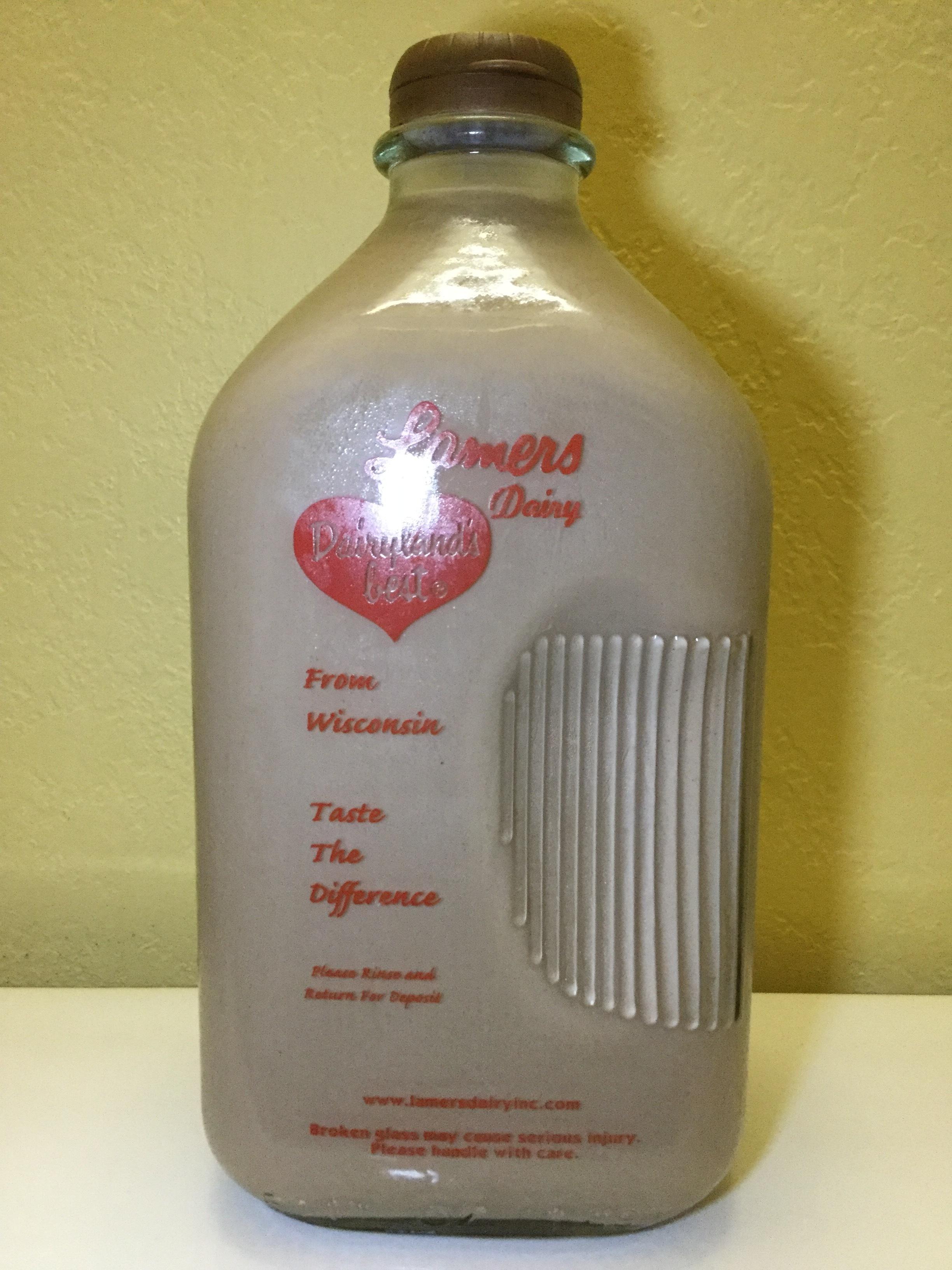 Lamers Dairy Chocolate Milk Side 1
