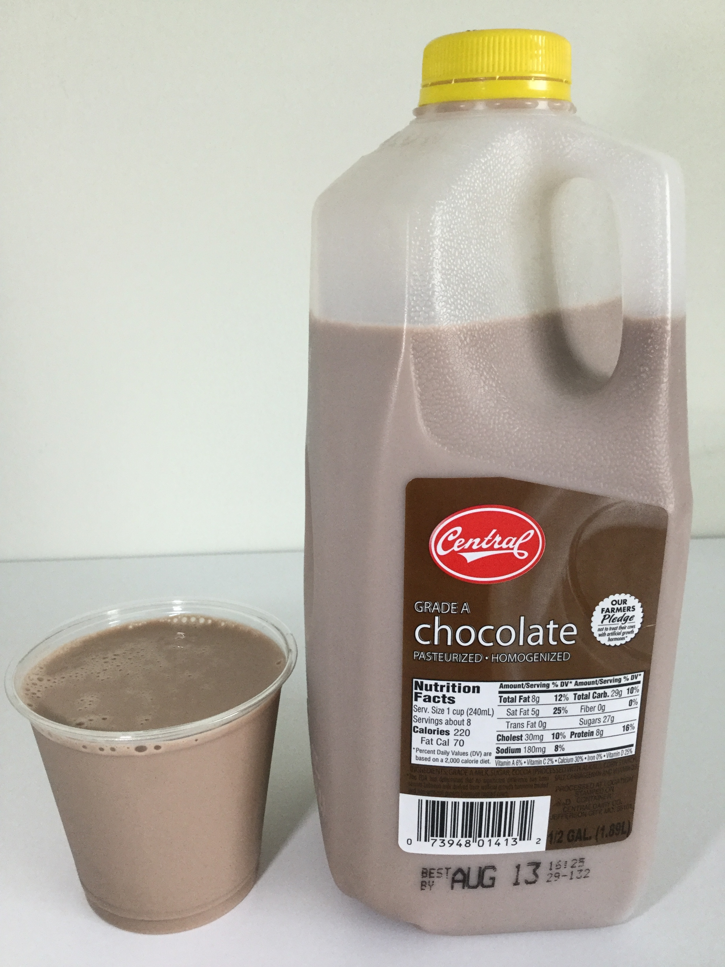 Central Dairy Chocolate Milk Cup