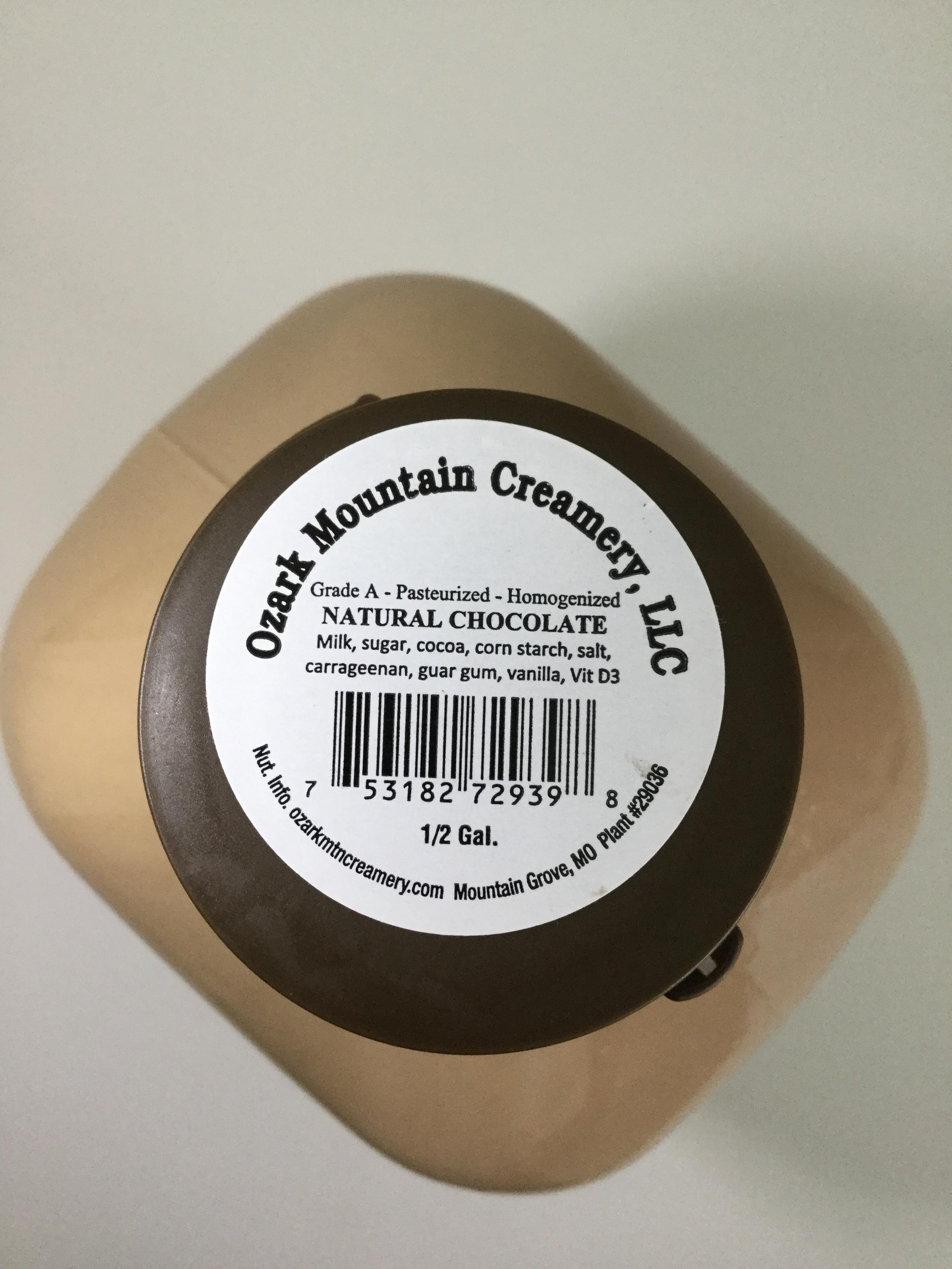 Ozark Mountain Creamery Chocolate Milk Top