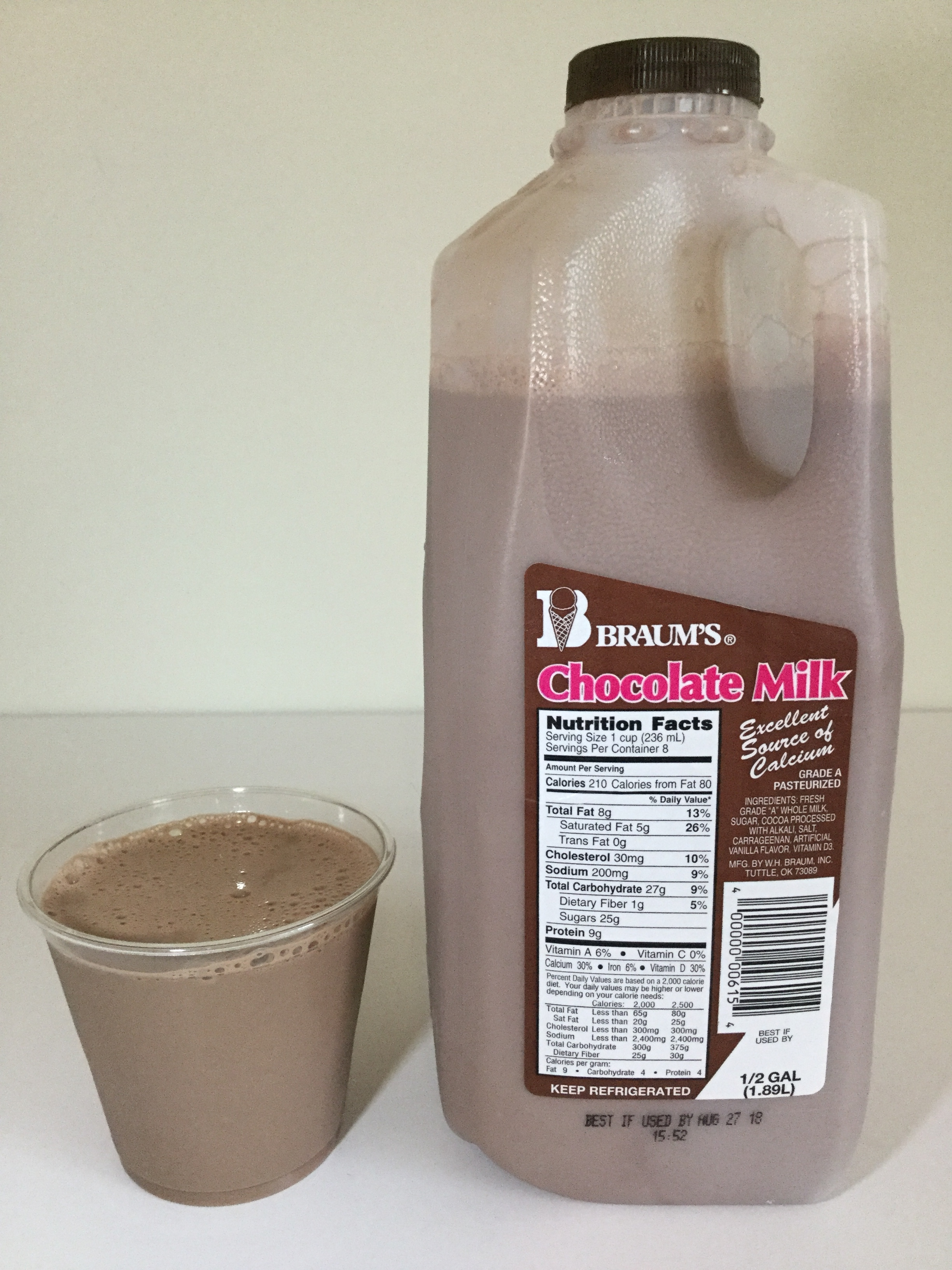 Braum's Chocolate Milk Cup