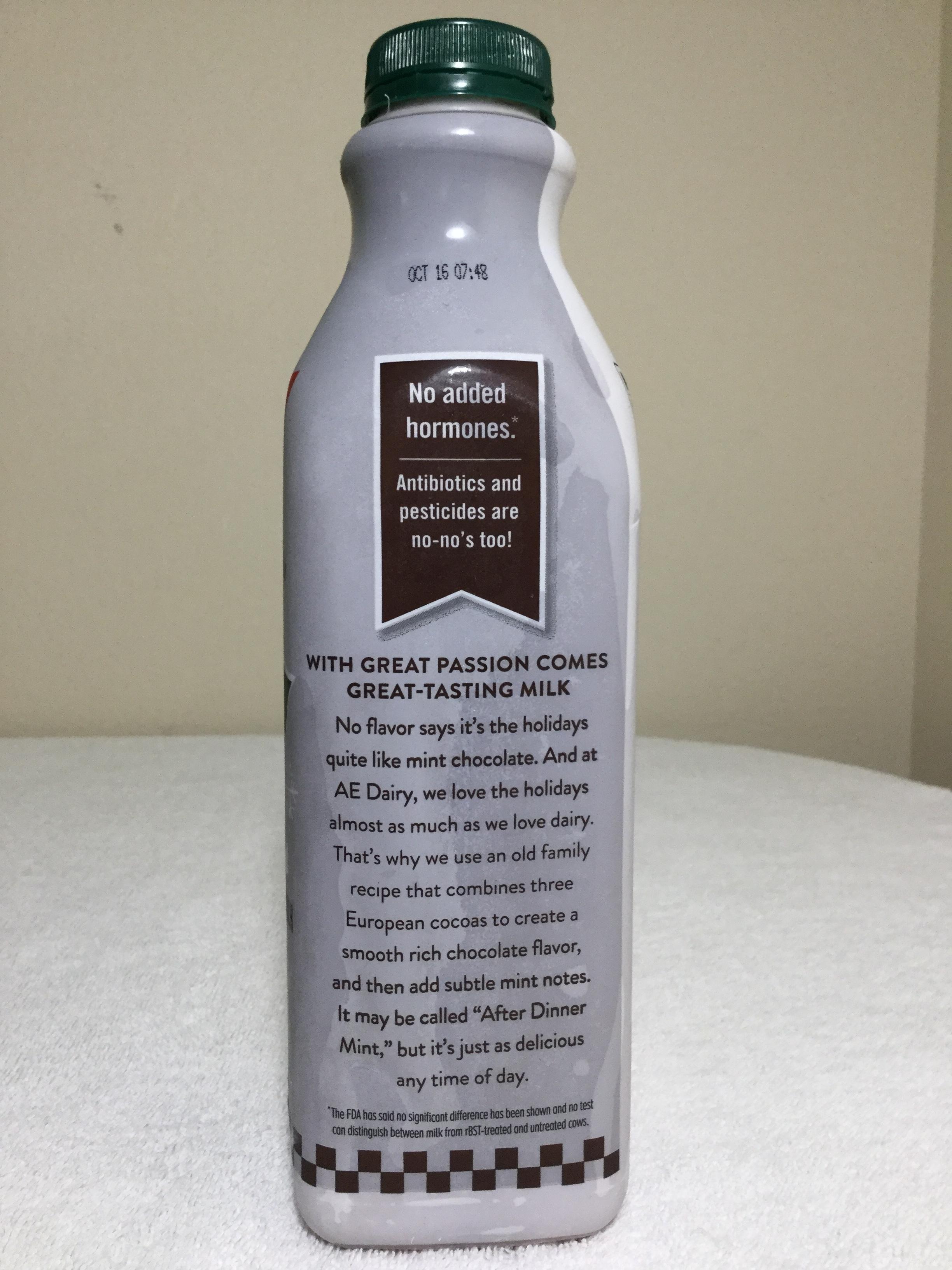 Anderson Erickson Chocolate Mint Milk Side 2