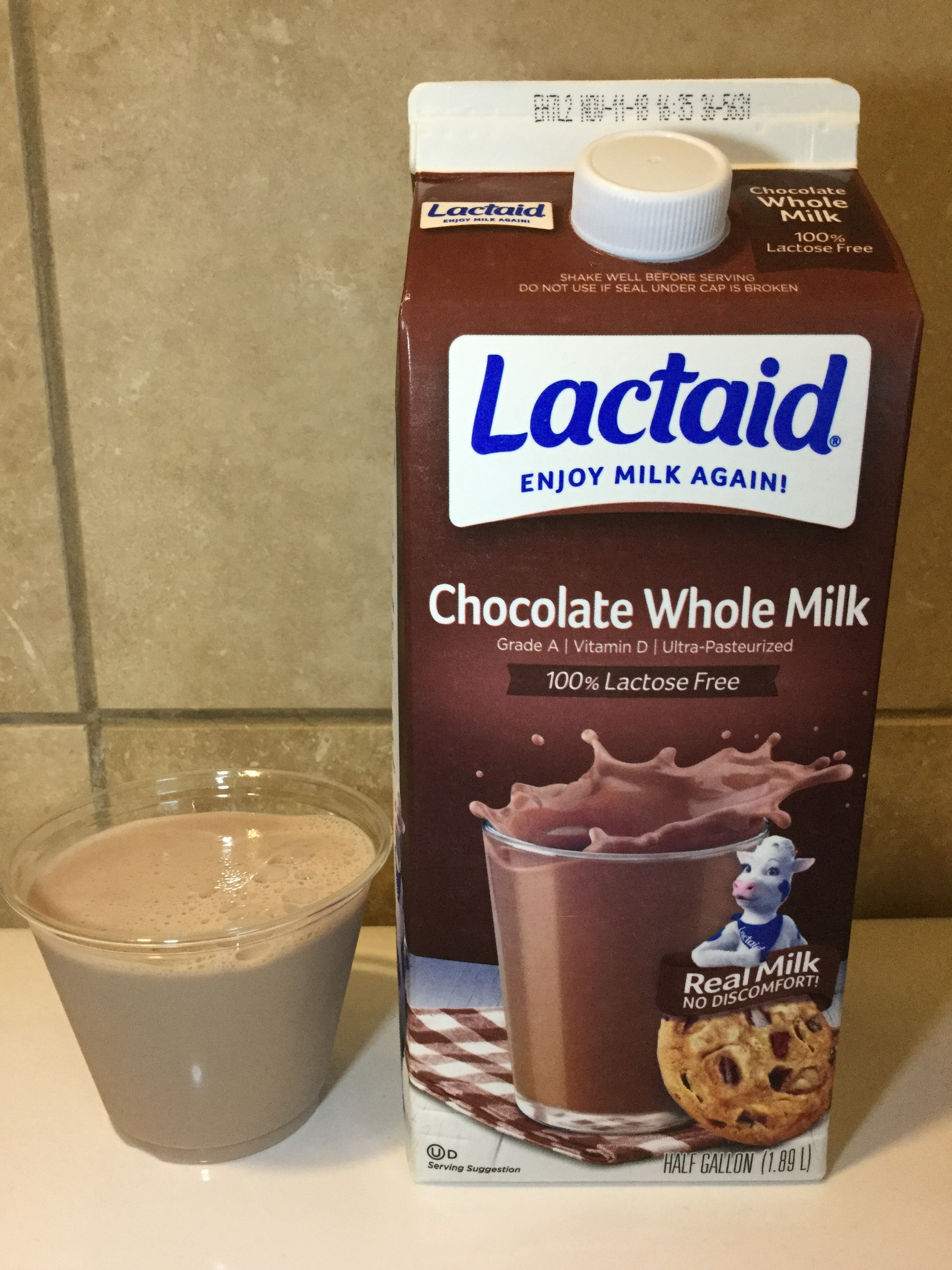Lactaid Chocolate Milk Cup