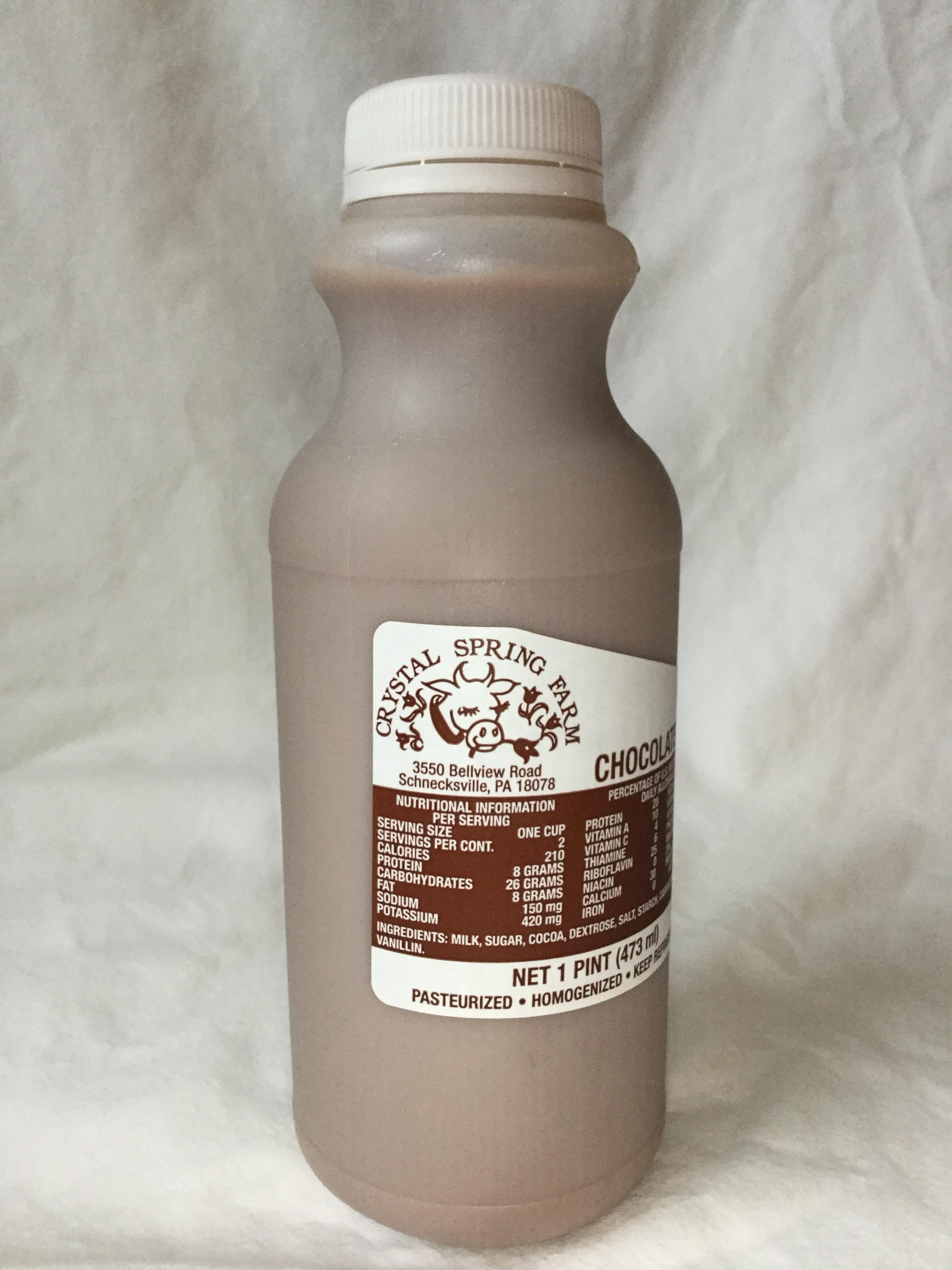 Crystal Spring Farm Chocolate Milk Side 1