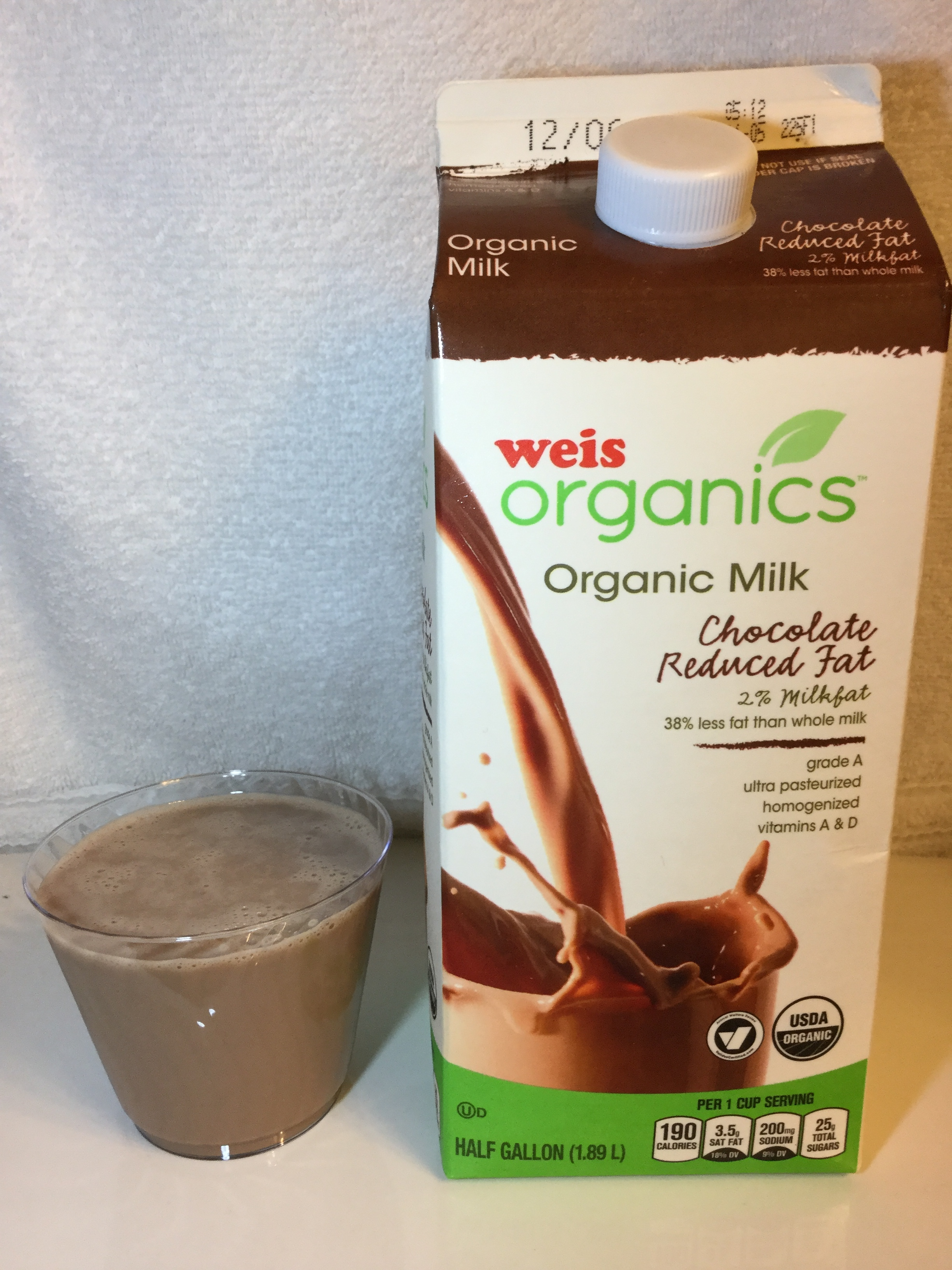 Weis Organics Reduced Fat Chocolate Milk Cup