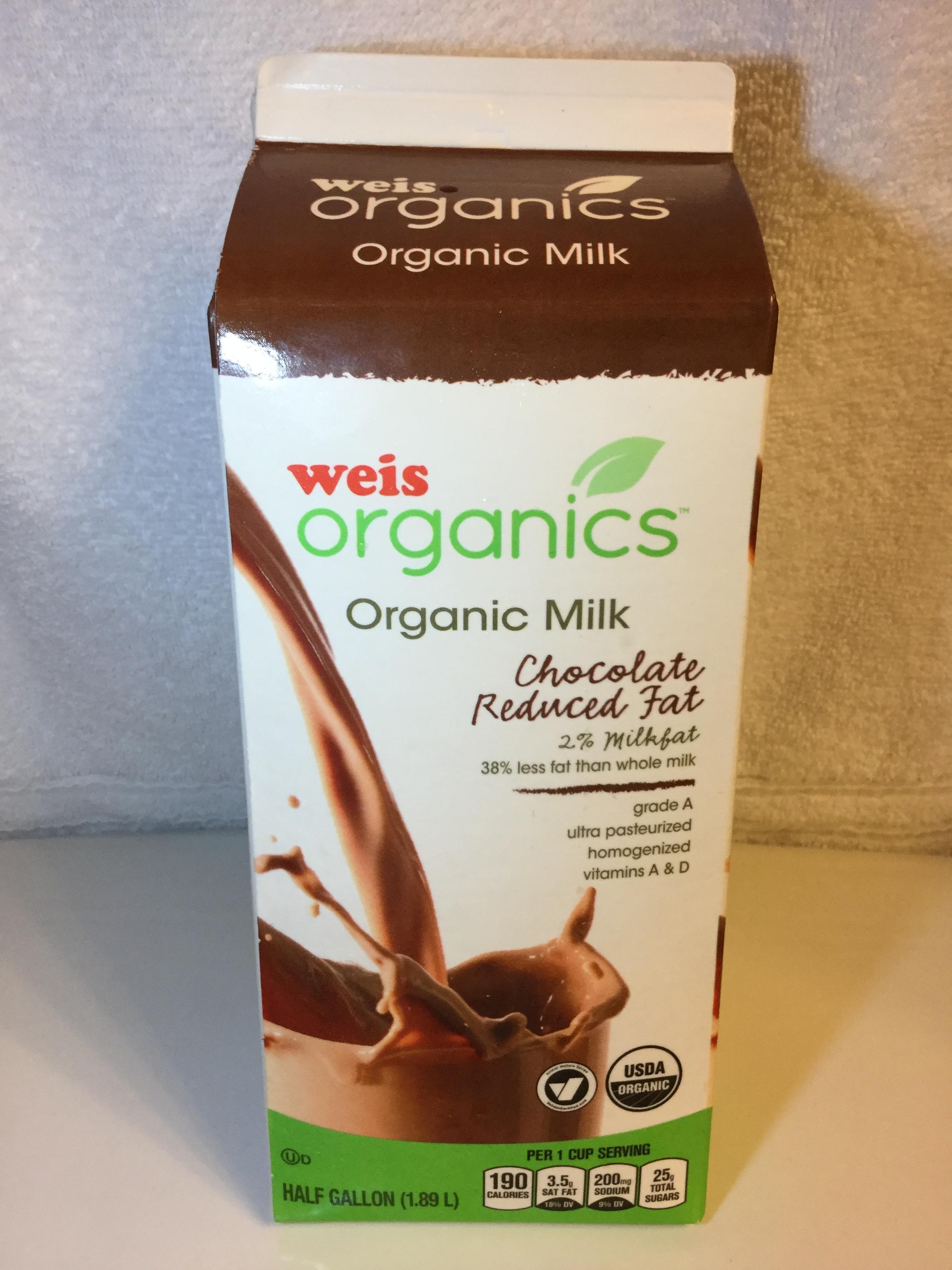 Weis Organics Reduced Fat Chocolate Milk Side 2