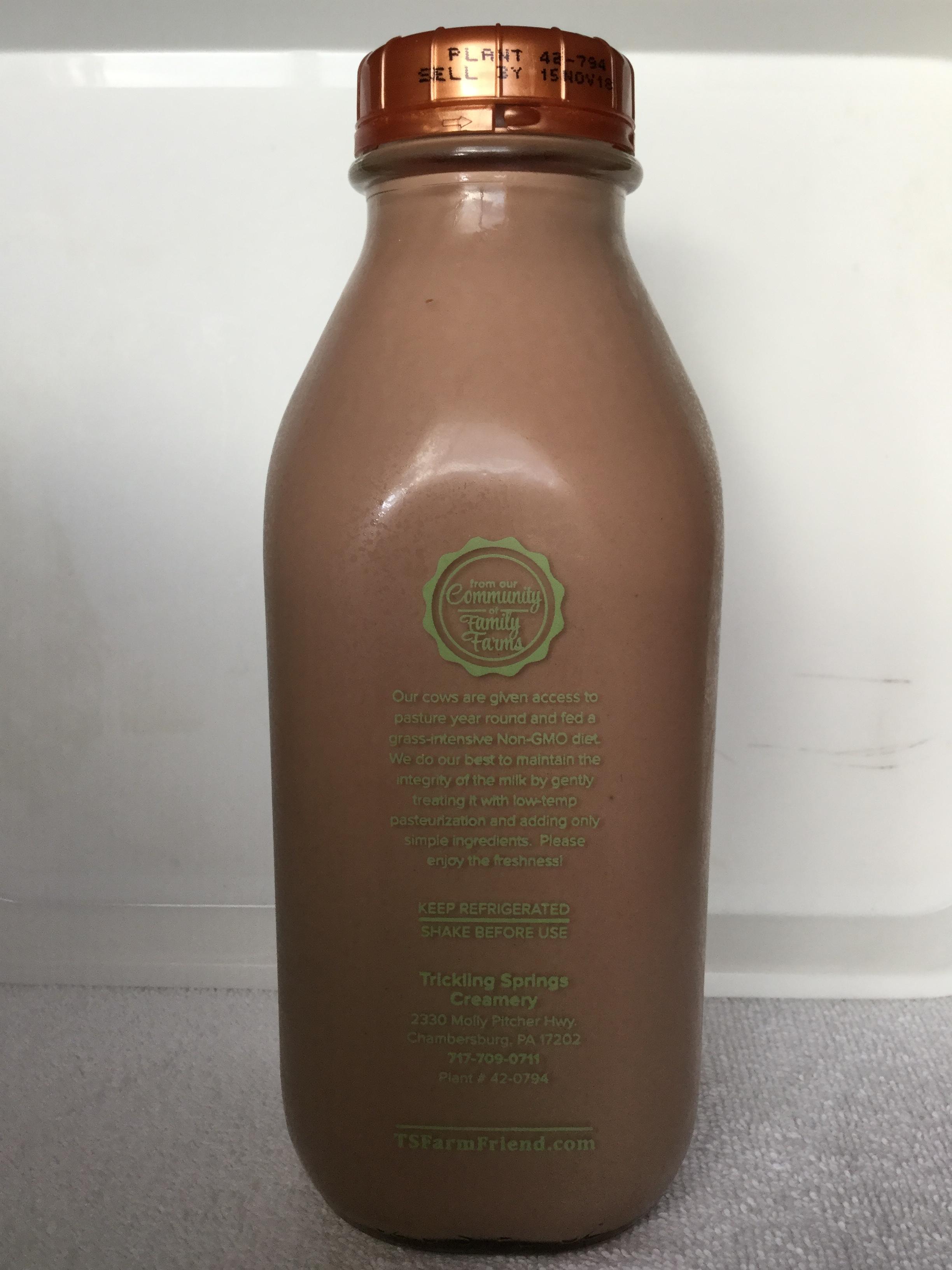 Trickling Springs FarmFriend Chocolate Milk Side 1