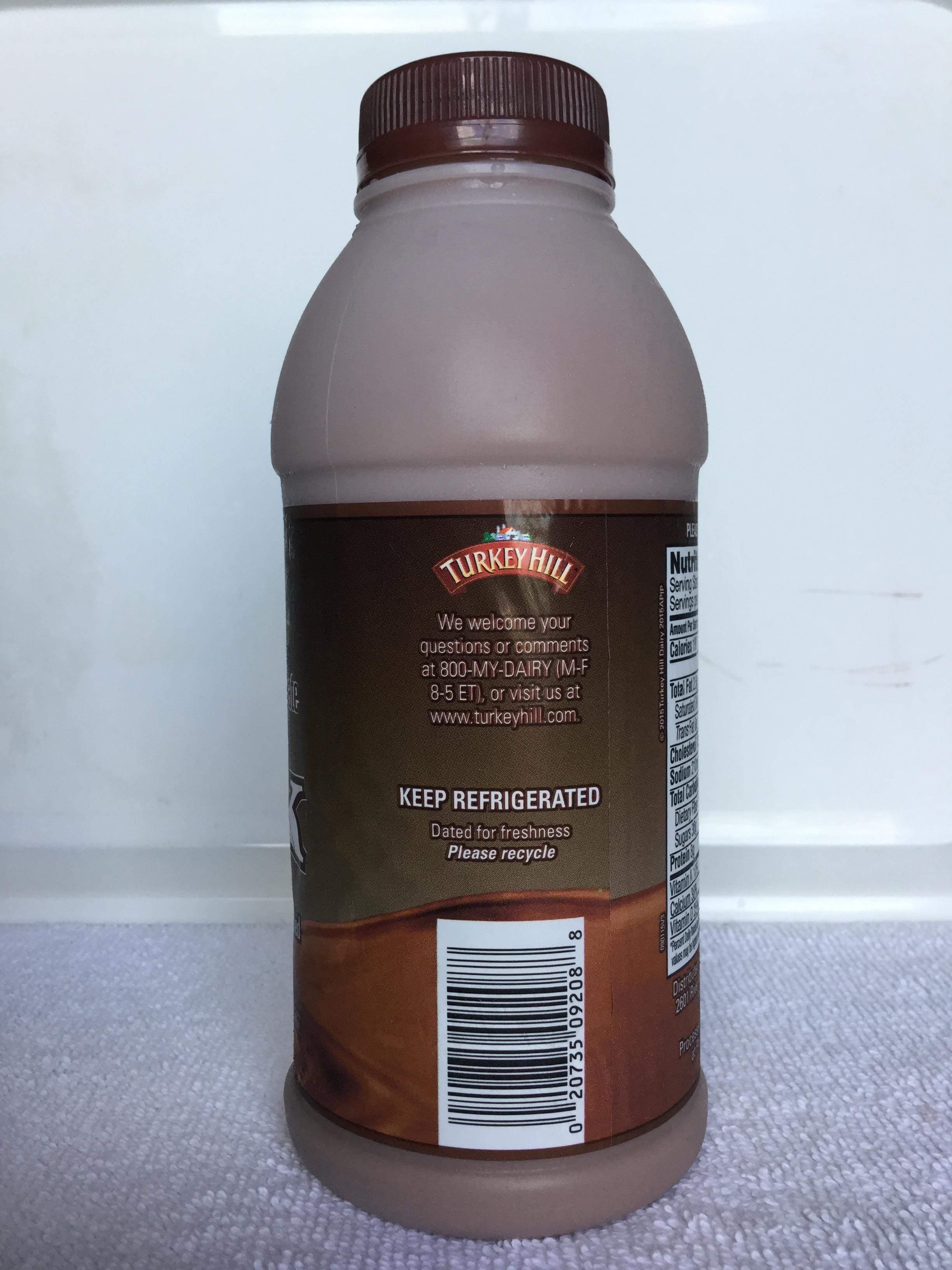 Turkey Hill Low Fat Chocolate Milk Side 2