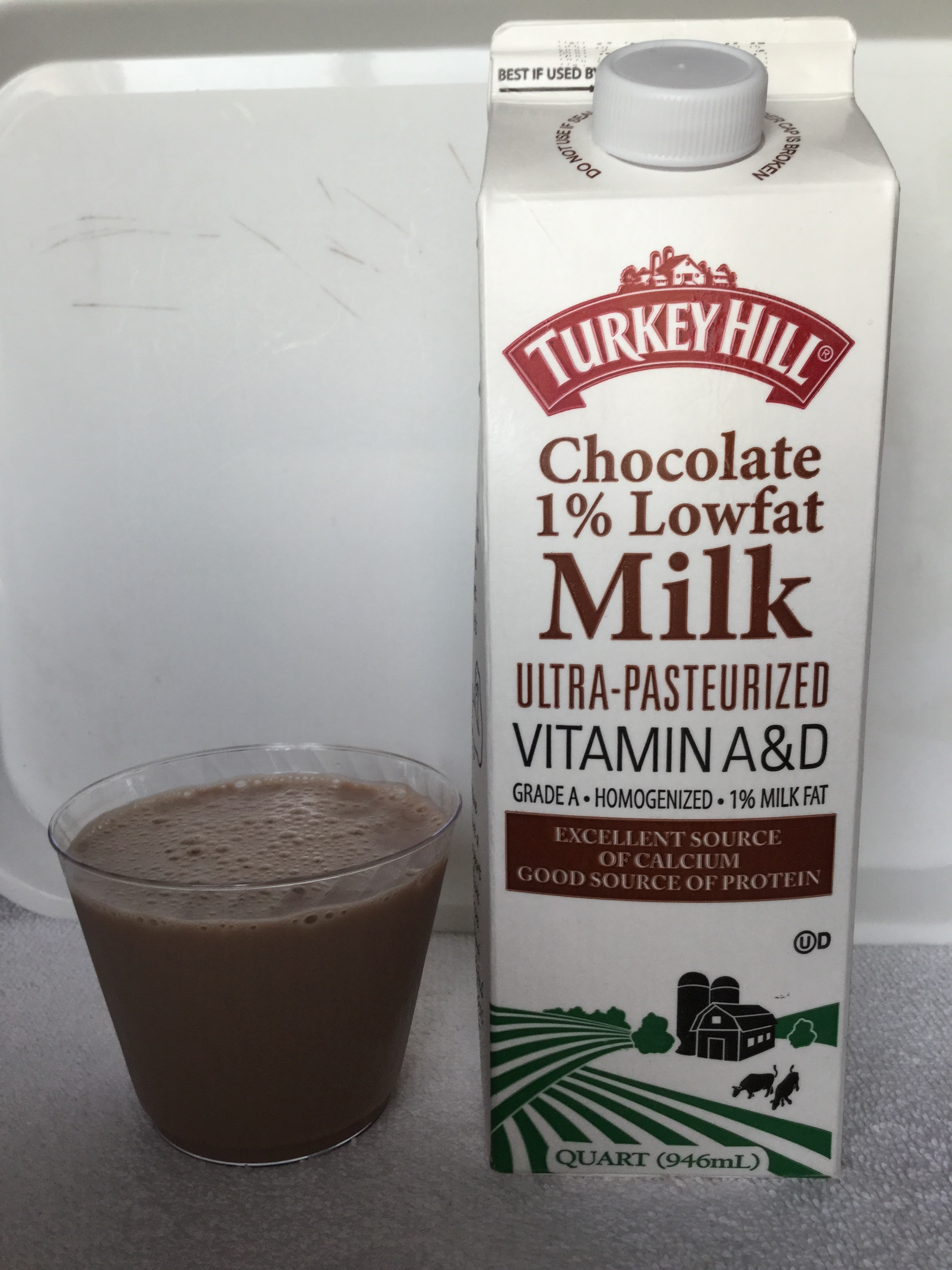 Turkey Hill Ultra-Pasteurized Lowfat Chocolate Milk Cup