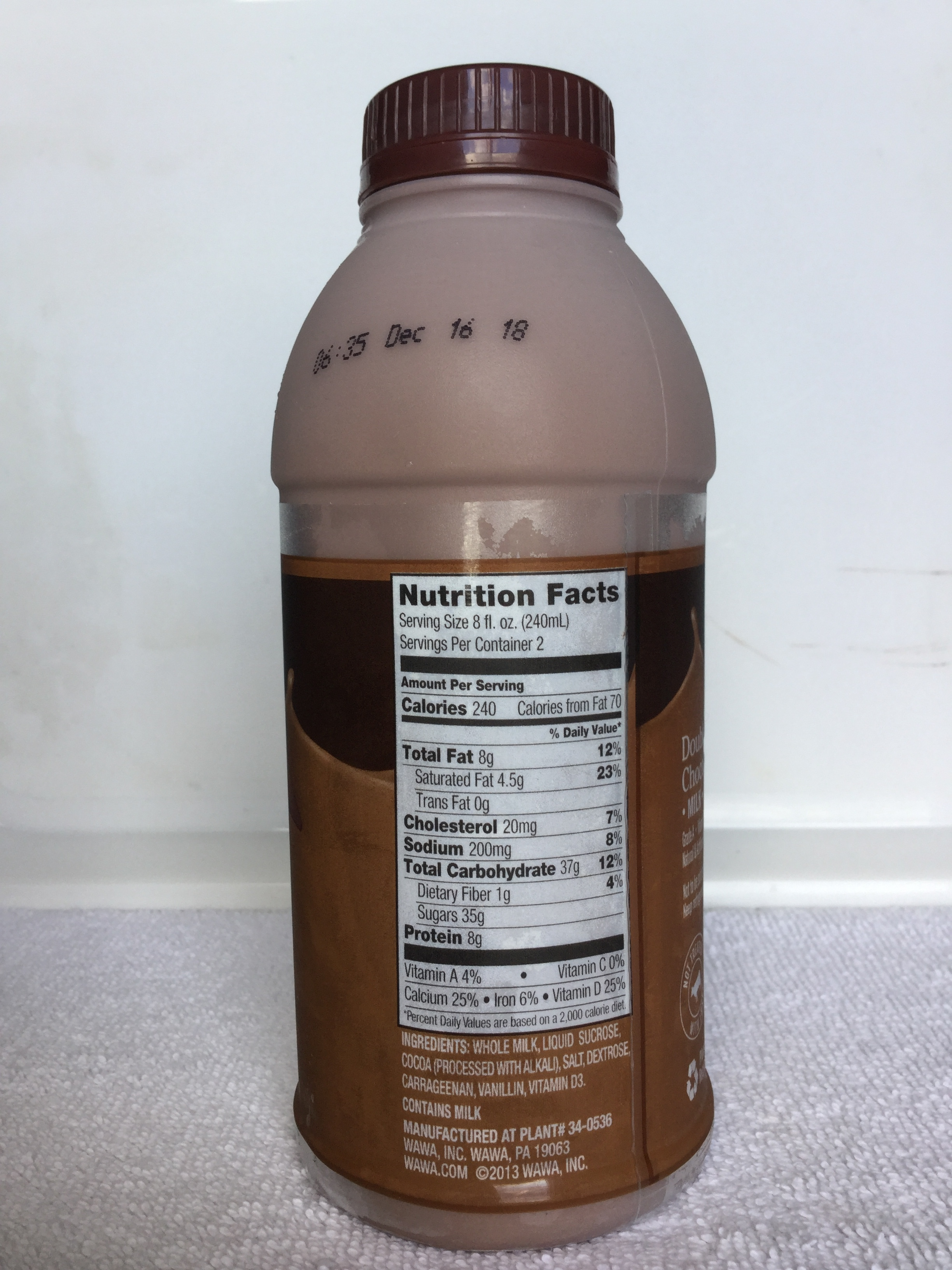 Wawa Double Dutch Chocolate Milk Side 1
