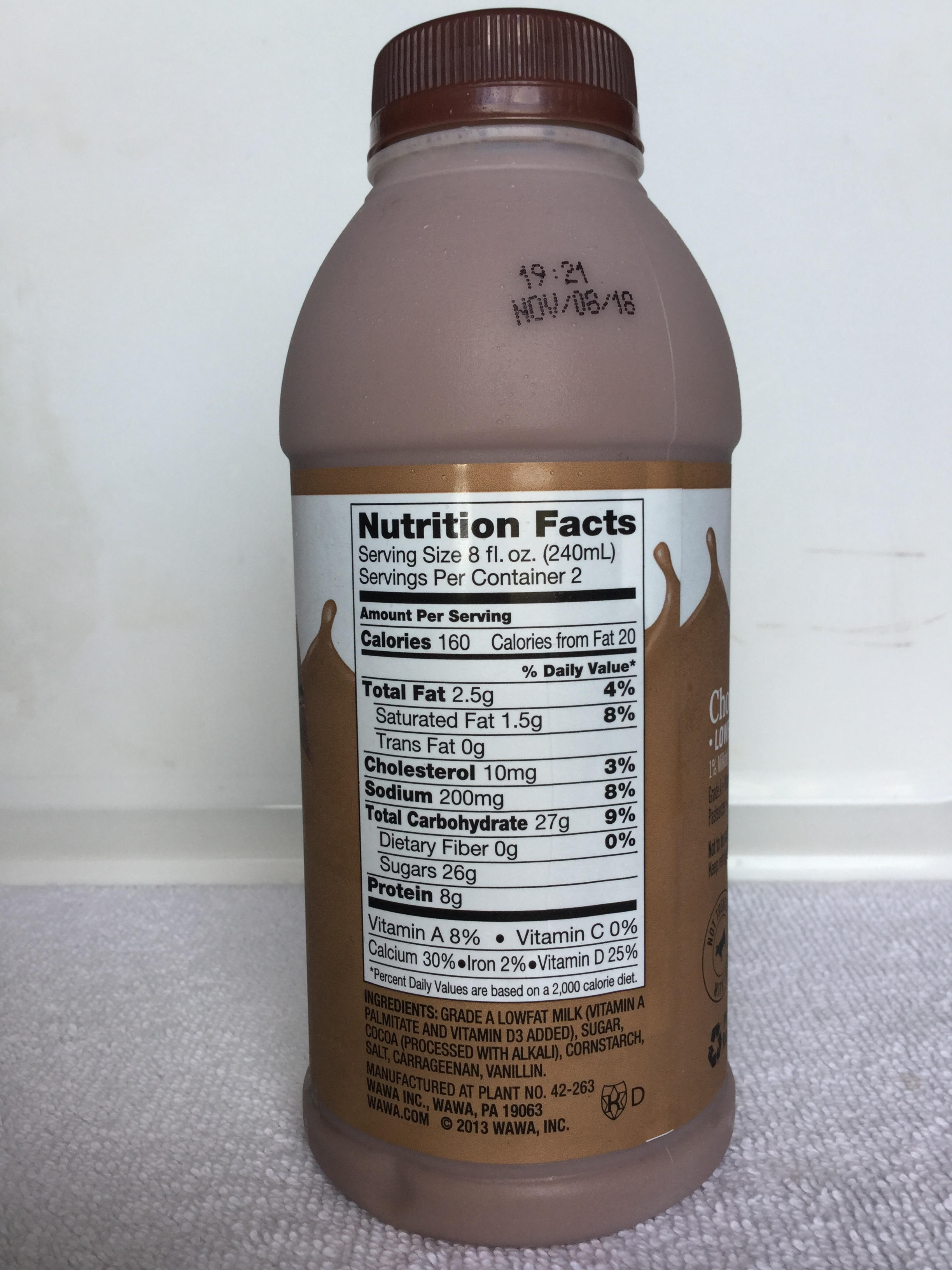 Wawa Lowfat Chocolate Milk Side 1