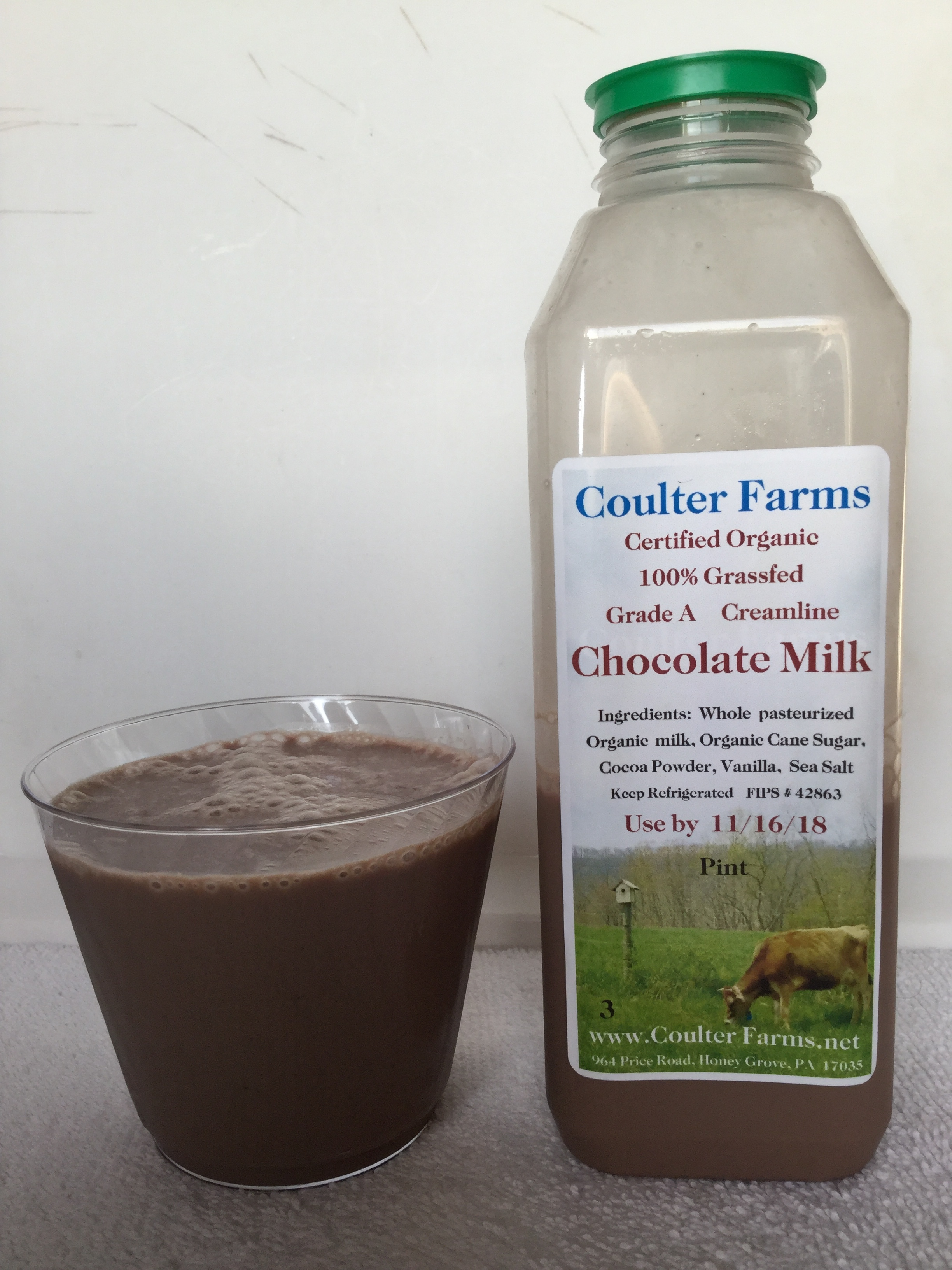 Coulter Farms Organic Chocolate Milk Cup