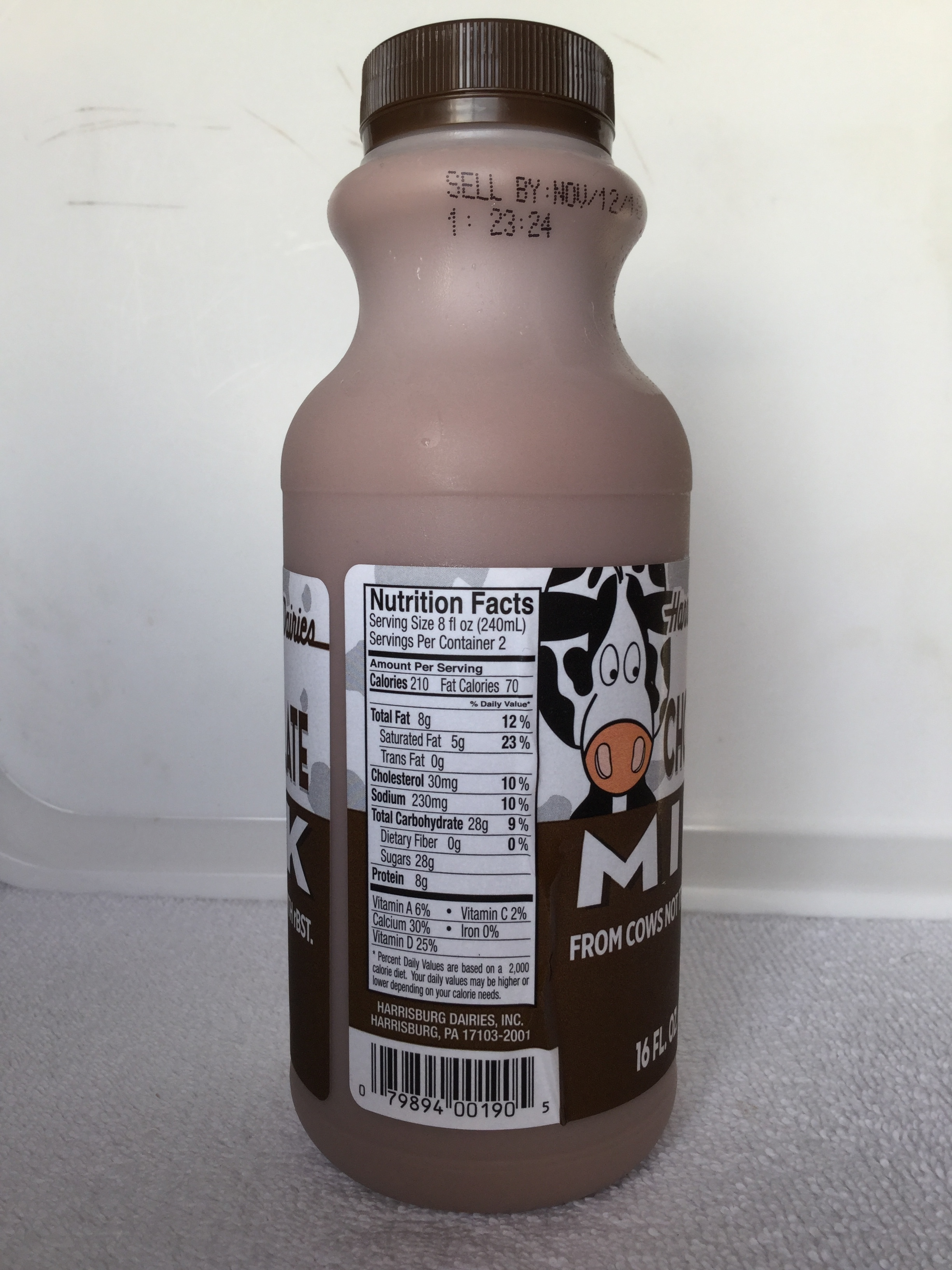 Harrisburg Dairies Chocolate Milk Side 1