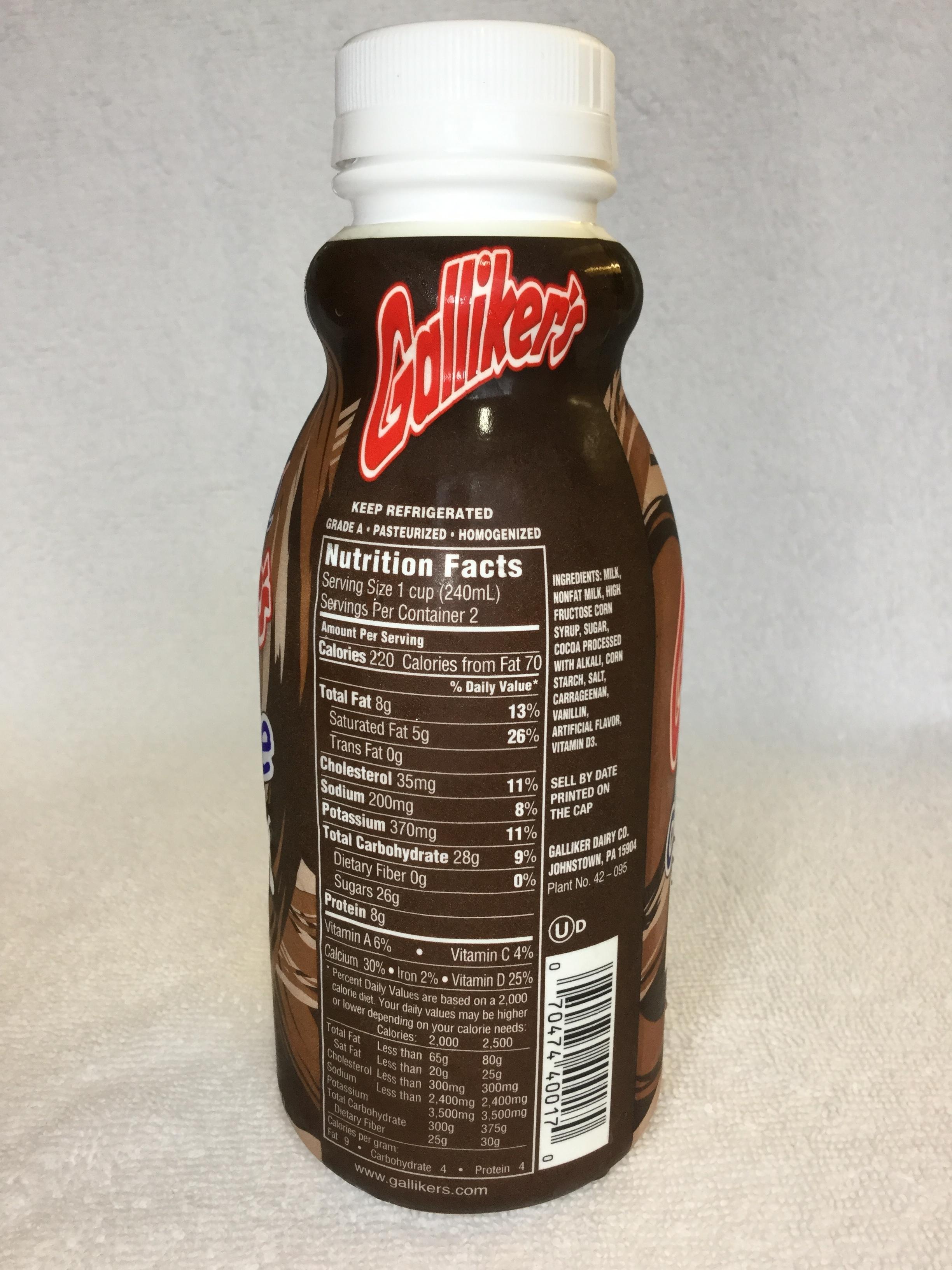 Galliker's Chocolate Milk Side 1