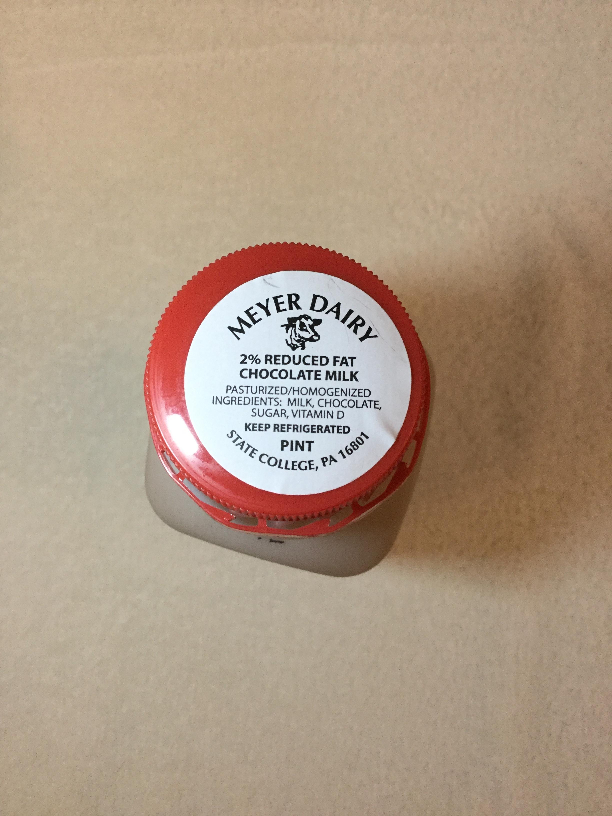 Meyer Dairy Chocolate Milk (plastic) Top