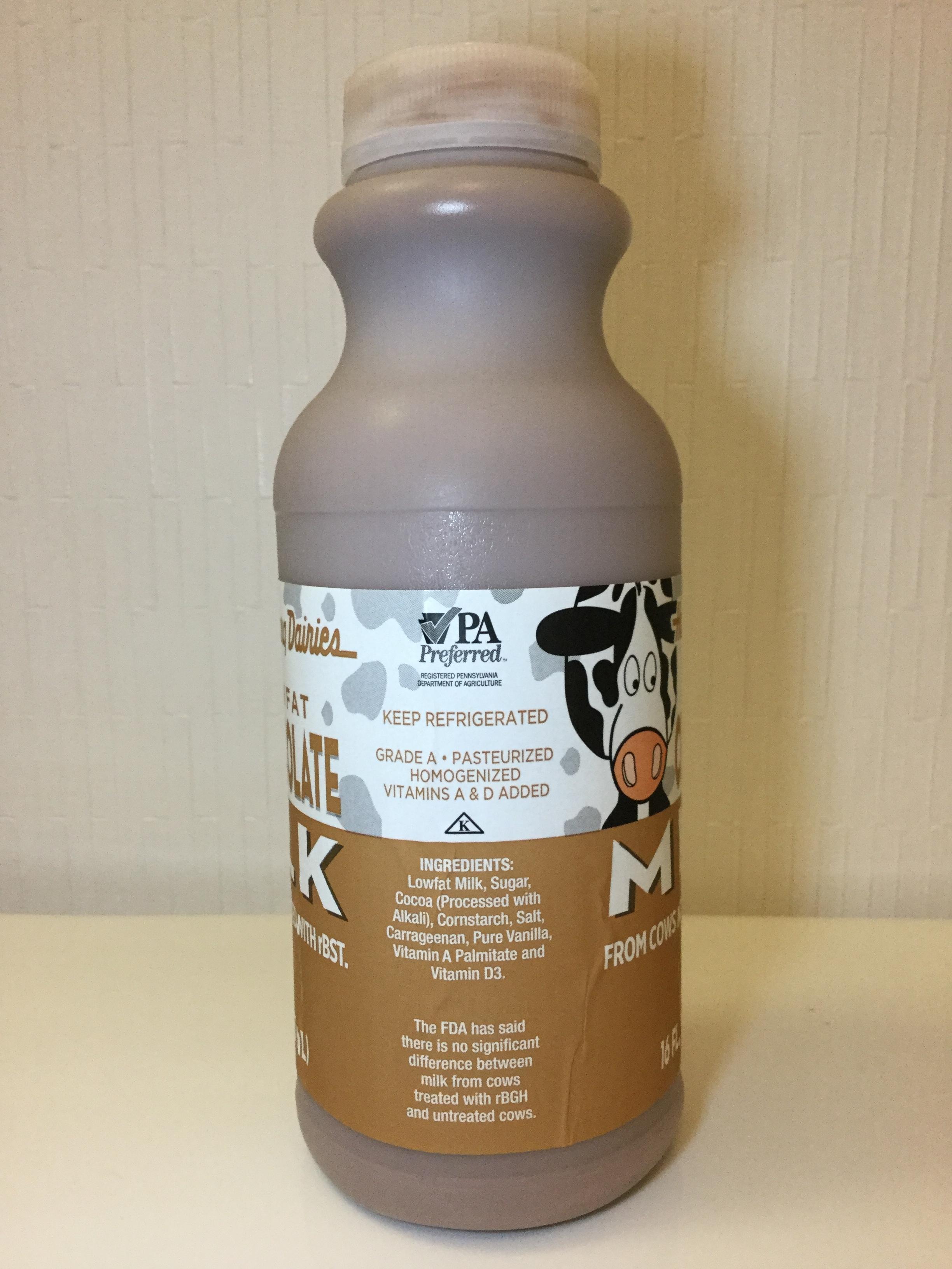 Harrisburg Dairies Lowfat Chocolate Milk Side 2