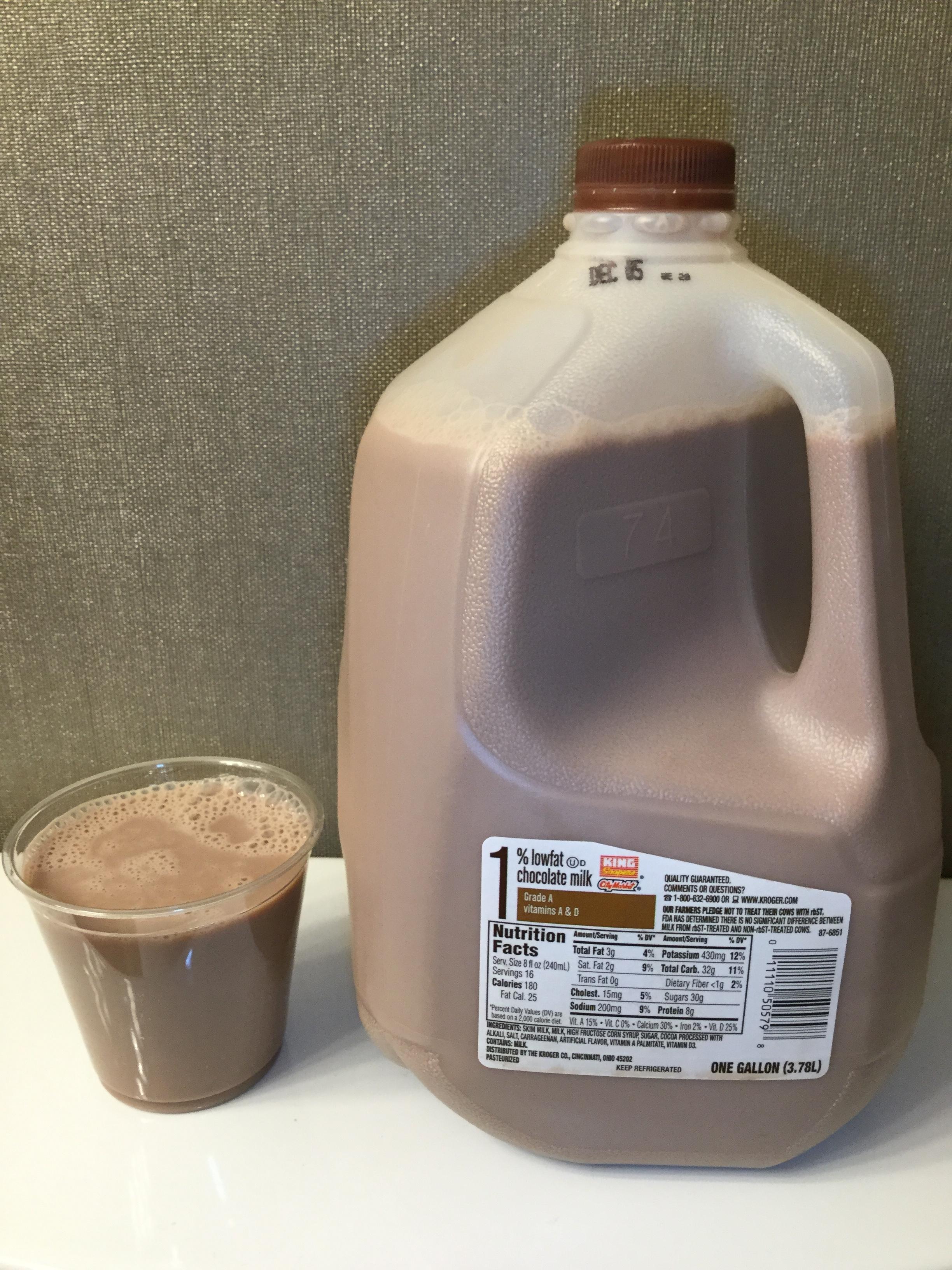 King Soopers Lowfat Chocolate Milk Cup