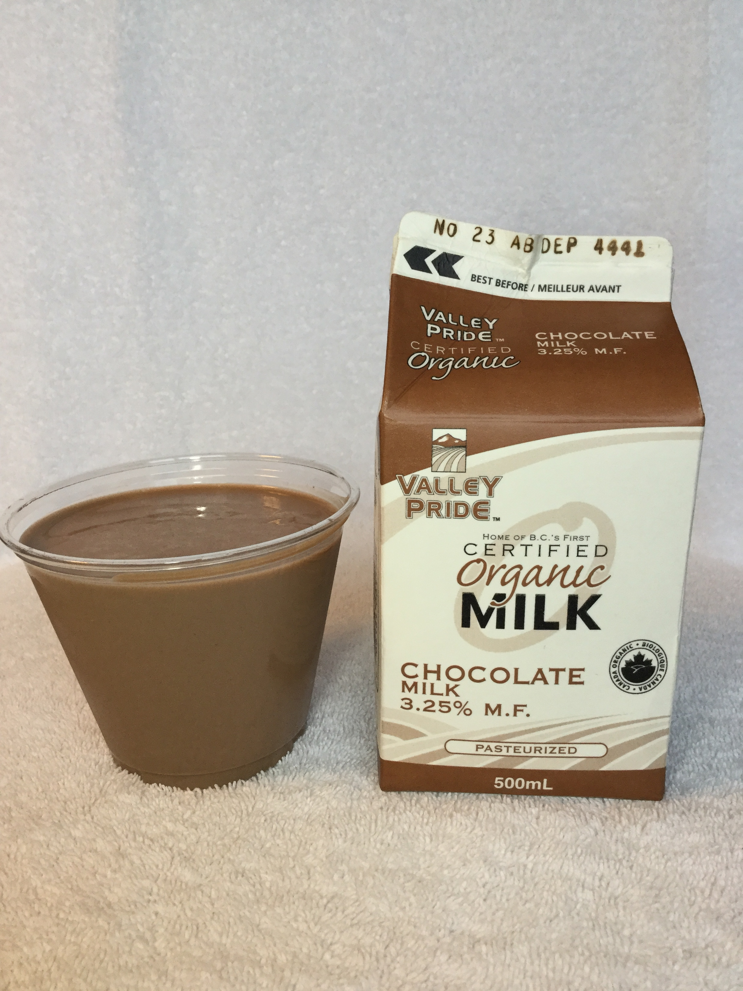 Valley Pride Organic Chocolate Milk Cup