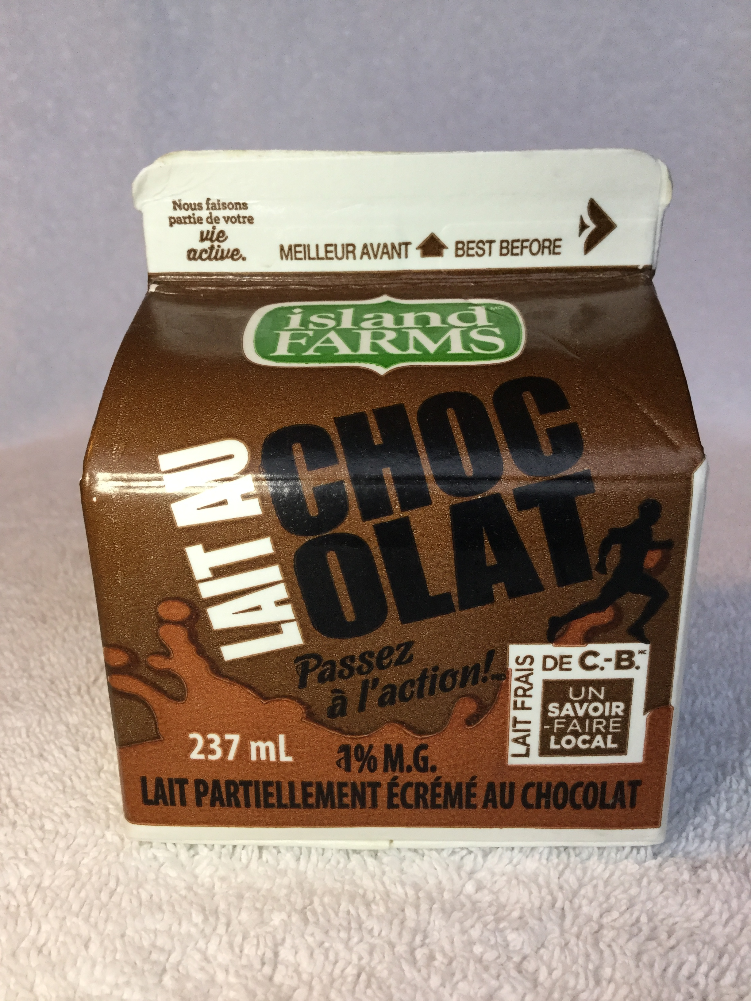 Island Farms Chocolate Milk Side 3