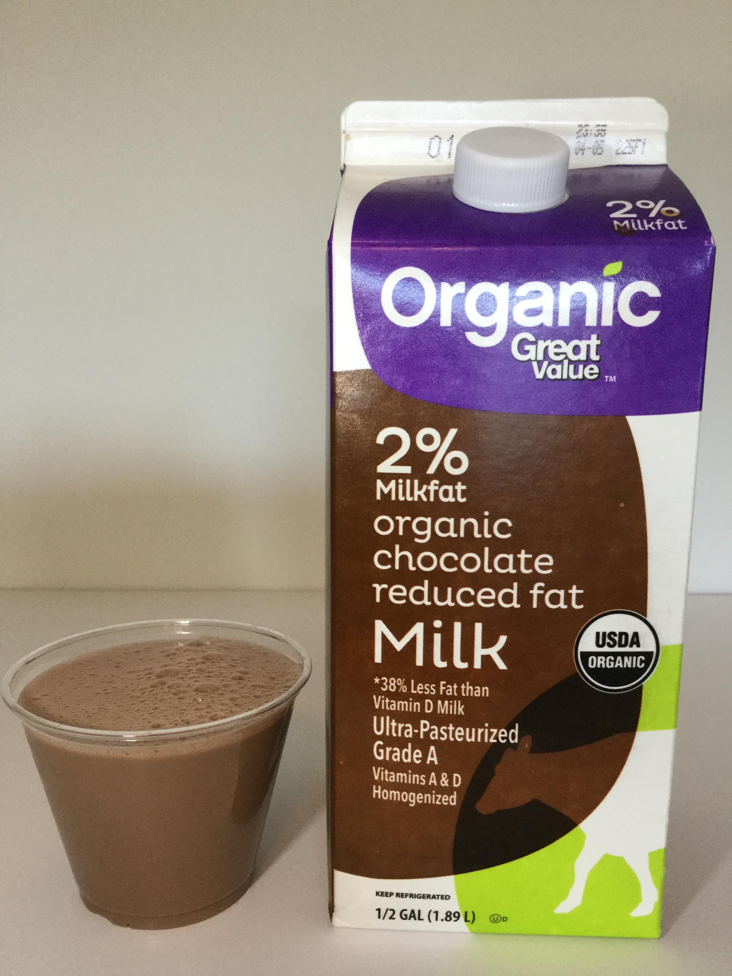 Great Value Organic Chocolate Milk Cup