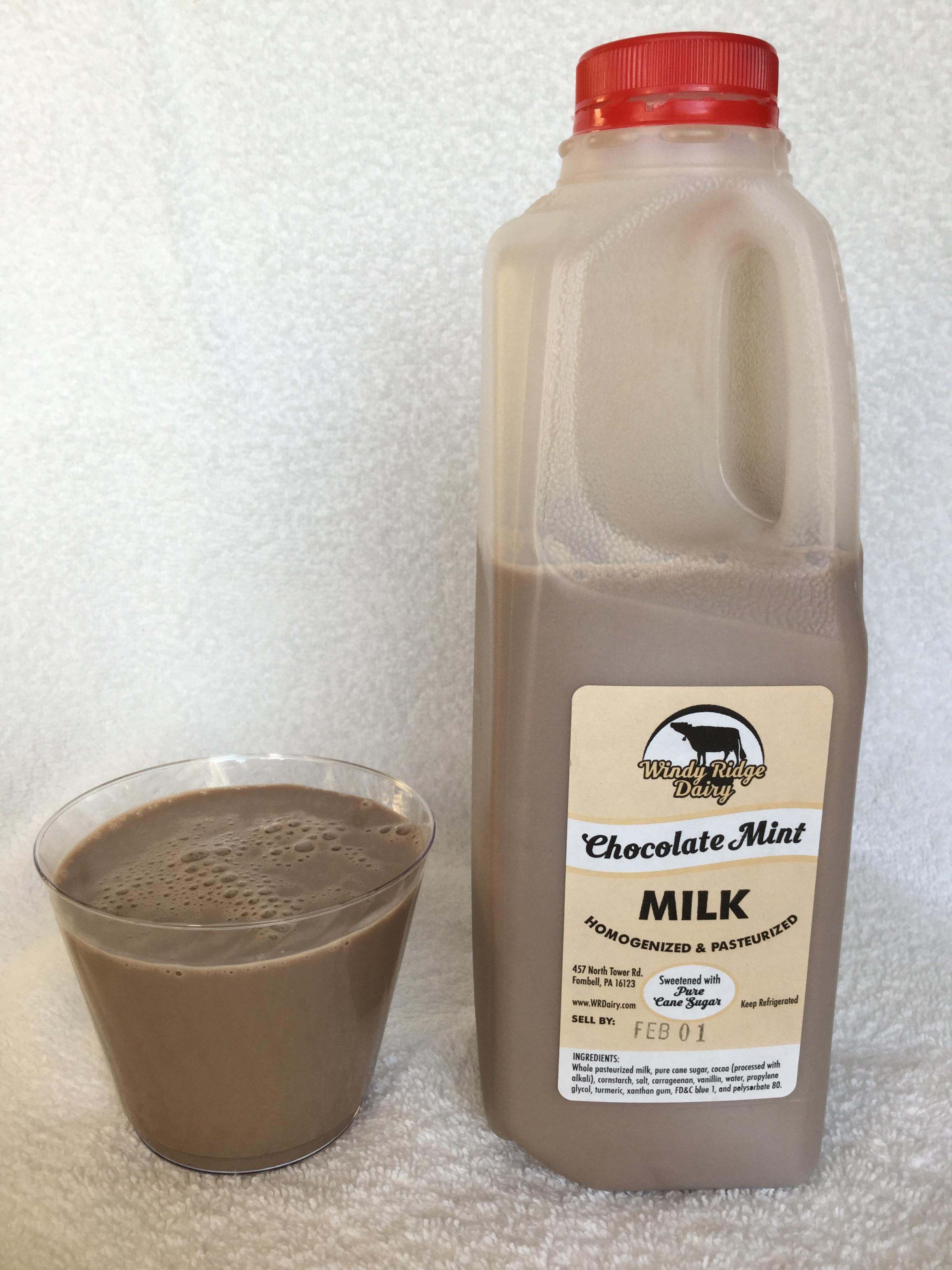 Windy Ridge Dairy Chocolate Mint Milk Cup